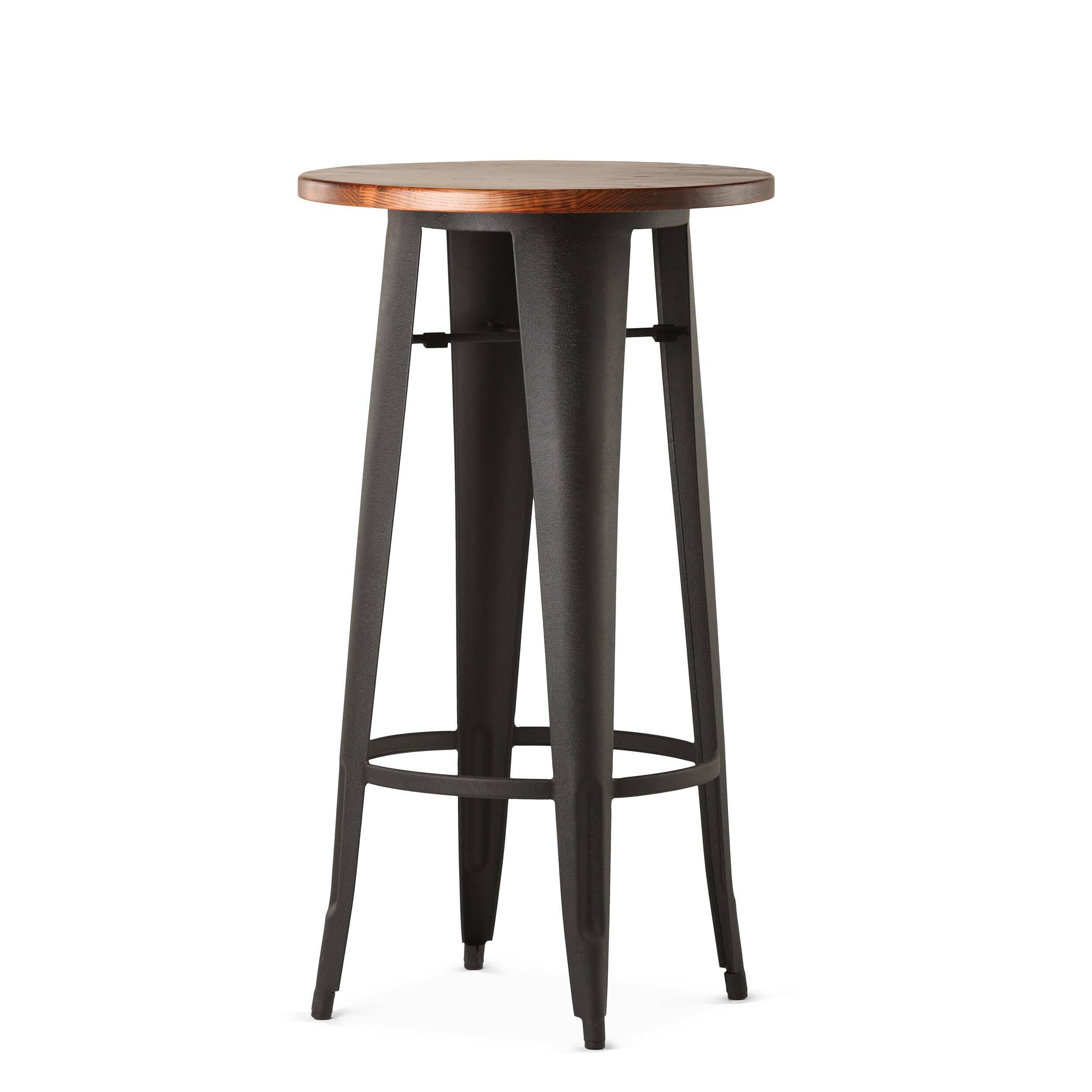 Барный стол Marais VintageБарные<br>Дизайнерский узкий высокий круглый стол Marais Vintage (Мэреиз Винтаж) на стальных ножках от Cosmo (Космо).<br><br><br> В широкий ассортимент коллекции Marais входят столы, кресла и стулья, дизайн который строго выдержан в индустриальном стиле. Стальной каркас, темное патинирование и элементы из натуральных пород дерева — характерные черты всех моделей коллекции. Благодаря этому они отлично подходят для декорирования домашних и коммерческих интерьеров в стиле лофт или индастриал. <br><br><br> Барный о...<br><br>stock: 0<br>Высота: 107<br>Диаметр: 60<br>Цвет ножек: Черный<br>Цвет столешницы: Антикварный<br>Материал столешницы: Массив ивы<br>Тип материала столешницы: Дерево<br>Тип материала ножек: Сталь