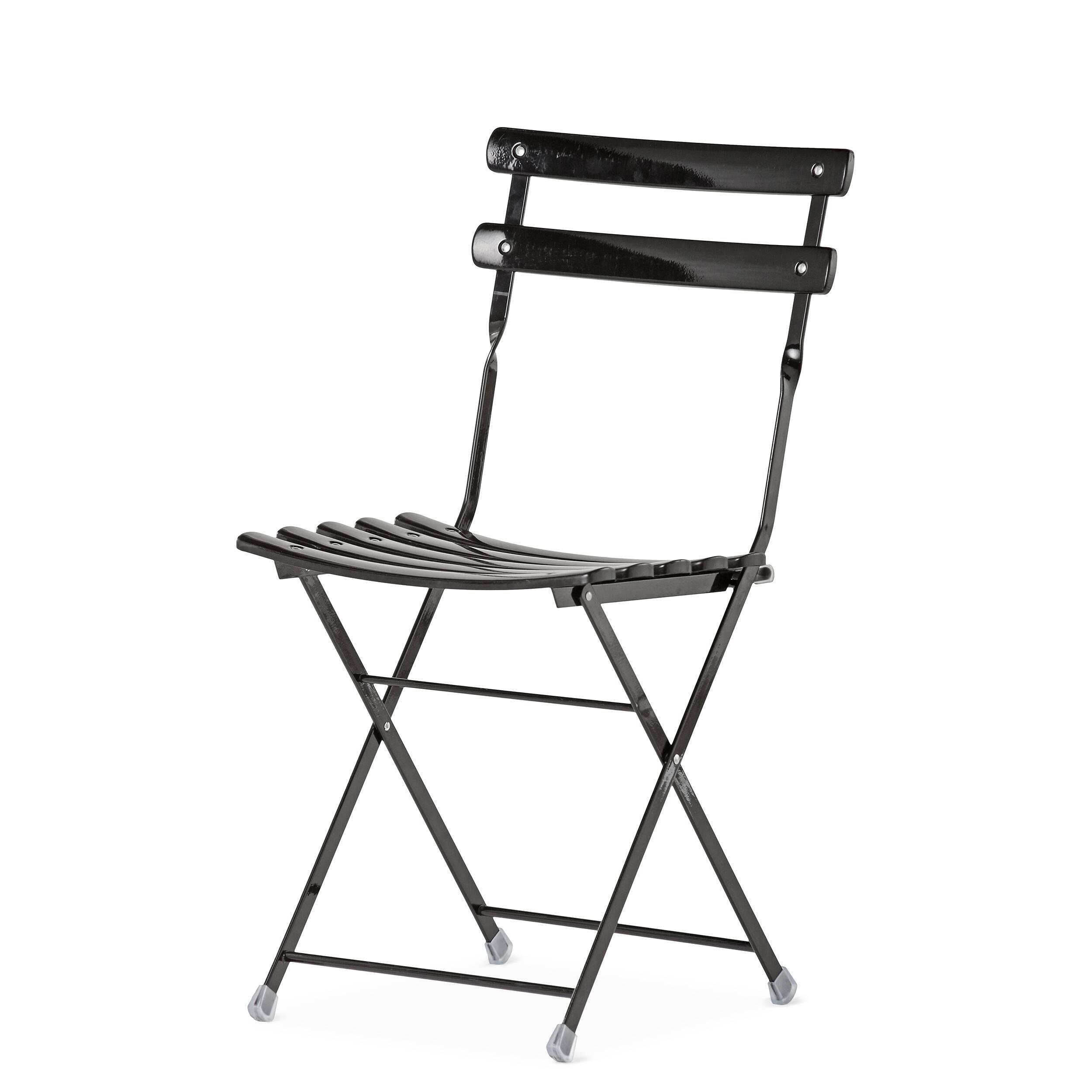 Стул CortileИнтерьерные<br>Дизайнерский легкий складной простой одноонный стул Cortile (Кортиль) из стали от Cosmo (Космо).<br><br>     Легкий, удобный, надежный и практичный — такими эпитетами можно охарактеризовать стул Cortile. Стальная конструкция не только придает ему прочность, но и позволяет использовать на открытом воздухе. Благодаря складному механизму этот предмет мебели легко хранить: он займет совсем немного места у стены. А простая, но вместе с тем изящная форма делает это изделие визуально легким, даже воздуш...<br><br>stock: 0<br>Высота: 81<br>Высота сиденья: 44<br>Ширина: 42,5<br>Глубина: 43<br>Тип материала каркаса: Сталь<br>Цвет каркаса: Черный