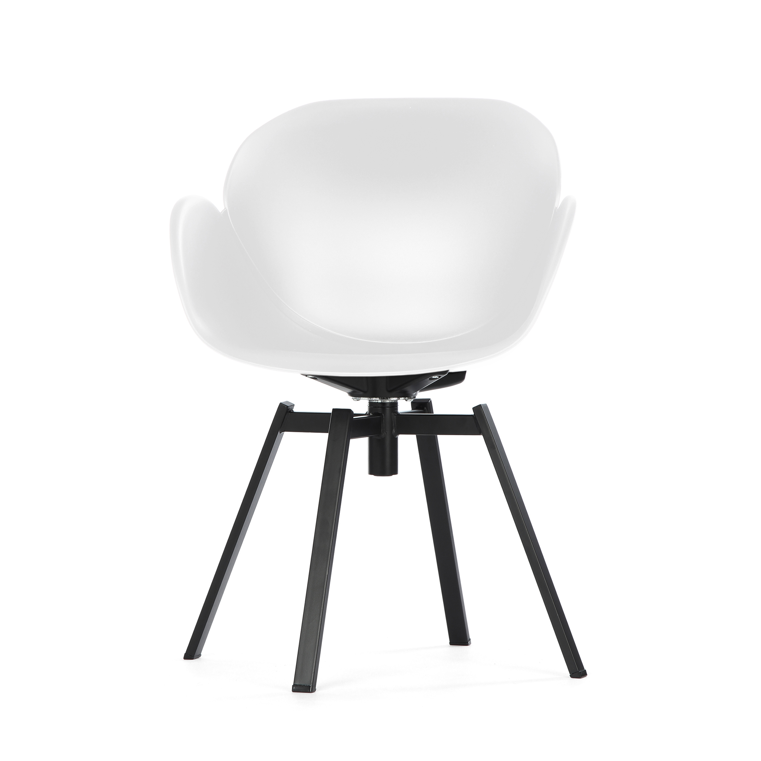 Кресло RezedaИнтерьерные<br>Дизайнерское стильное кресло Rezeda (Резида) из полипропилена на стальных ножках от Cosmo (Космо).<br><br><br>«Вкусные» изгибы кресла Rezeda отлично вписываются в интерьер стиля хай-тек, что доказывают доступные монохромные цветовые исполнения, а также отсутствие лишних деталей. Его минималистичный дизайн — настоящая находка для классических офисных интерьеров. На редкость гармоничное сочетание плавных линий и острых углов — отличительная особенность модели кресла. <br><br><br><br> Изделие изготовлено и...<br><br>stock: 7<br>Высота: 84<br>Высота сиденья: 45<br>Ширина: 61<br>Глубина: 58<br>Цвет ножек: Черный<br>Тип материала обивки: Полипропилен<br>Тип материала ножек: Сталь нержавеющая<br>Цвет обивки: Белый