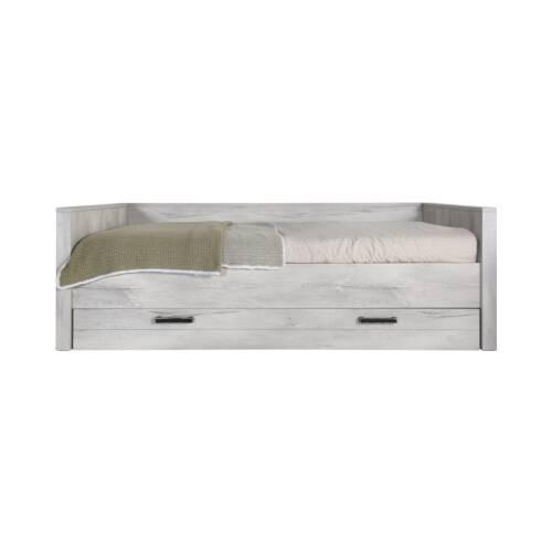 Кровать Fjord, 90х200Мебель для детей<br><br><br>stock: 0<br>Высота: 70<br>Ширина: 99<br>Длина: 214<br>Материал каркаса: Меламин<br>Цвет каркаса: Серый