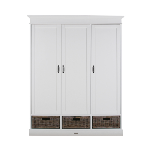 Шкаф La Premiere ширина 160, ротангМебель для детей<br><br><br>stock: 0<br>Высота: 210<br>Ширина: 160<br>Глубина: 56<br>Двери: Коричневый<br>Материал дверей: Ротанг<br>Тип материала каркаса: МДФ<br>Цвет каркаса: Белый