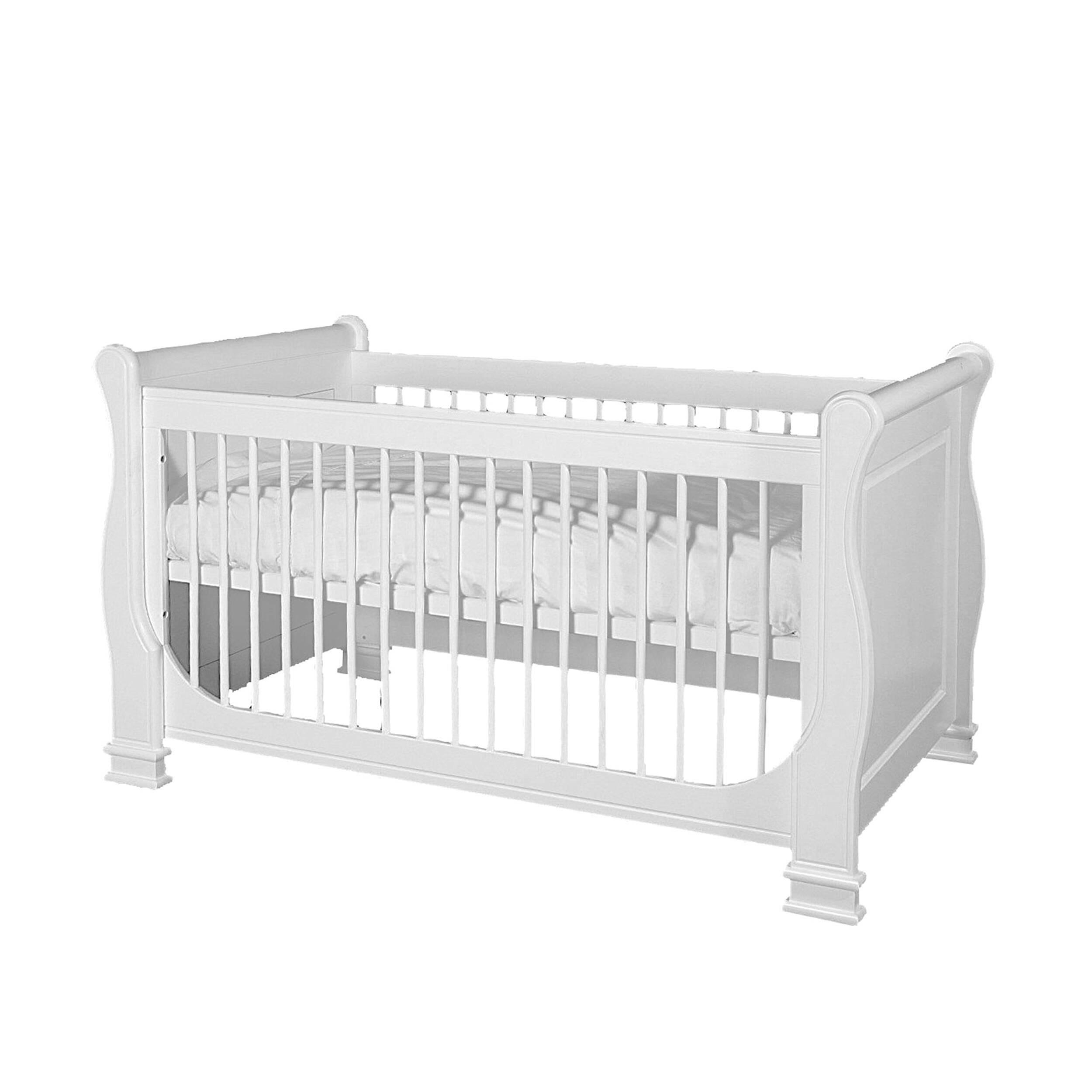 Детская кровать Louis de Philippe, 60х120Мебель для детей<br><br><br>stock: 0<br>Высота: 85<br>Ширина: 70<br>Длина: 137<br>Материал каркаса: МДФ<br>Цвет каркаса: Белый