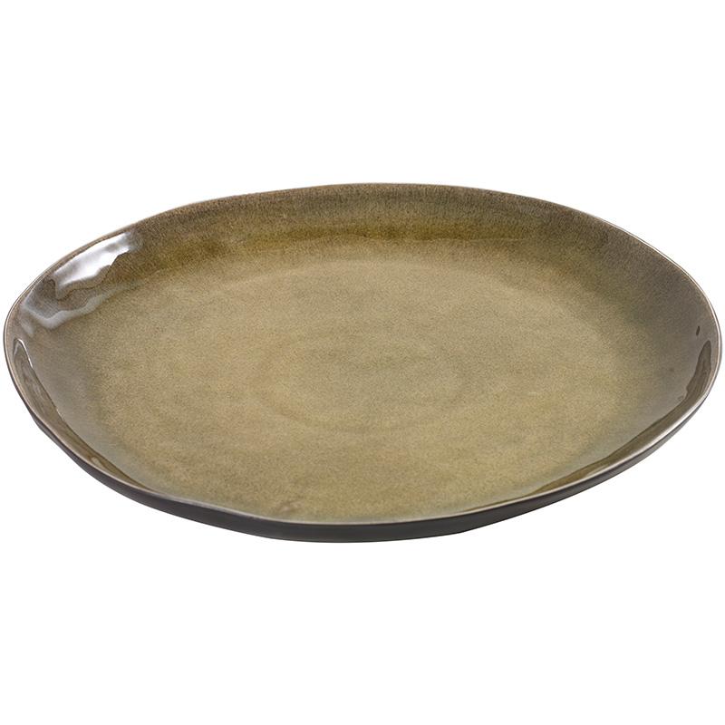 Блюдо PURE (B1012028)Посуда<br>Артикул: B1012028. Без блюда внушительных размеров не обойтись ни одной хозяйке. Но покупать необходимо с акцентом на оригинальность и эстетику. Этими характеристиками обладает зеленое керамическое блюдо PURE диаметром 34 см. Дизайн: Serax, Бельгия.<br><br>stock: 2<br>Высота: 3<br>Материал: Керамика<br>Цвет: Зеленый<br>Размер: None<br>Диаметр: 34<br>Страна происхождения: Бельгия