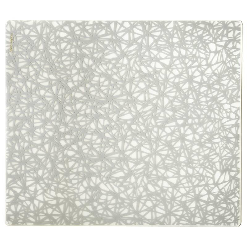 Салфетка под тарелку TWINE (PLTW04)Разное<br>Артикул: PLTW04. Красивая сервировка стола – гарантия того, что все поданные яства будут восприняты «на ура». И стильная салфетка под тарелку TWINE, выполненная в серебряном цвете и изготавливаемая из пищевого силикона, идеально подойдет для изысканного оформления – перед такой покупкой не устоит настоящая хозяйка. Дизайн: Modern-Twist, США.<br><br>stock: 317<br>Ширина: 35<br>Материал: пищевой силикон<br>Цвет: серебро<br>Размер: 35 x 40<br>Длина: 40<br>Страна происхождения: США