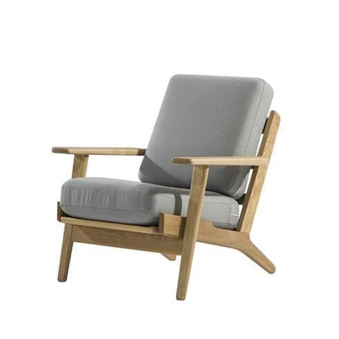 Кресло PlankИнтерьерные<br>Дизайнерское мягкое глубокое кресло Plank (Плэнк) с деревянным каркасом от Cosmo (Космо).<br><br><br><br> Кресло Plank Ханса Вегнера — это классическое мягкое кресло: красивое, удобное и универсальное. В течение многих десятилетий имя Ханса Вегнера было синонимом понятия «органическая функциональность» — продукт школы модерна, которая ставит функциональность изделий выше всего остального. Кресло Plank, в свою очередь, способствовало широкому распространению влияния датского дизайна в середине прошл...<br><br>stock: 0<br>Высота: 73,5<br>Высота сиденья: 41,5<br>Ширина: 75<br>Глубина: 84<br>Материал каркаса: Массив дуба<br>Материал обивки: Шерсть, Нейлон<br>Тип материала каркаса: Дерево<br>Коллекция ткани: T Fabric<br>Тип материала обивки: Ткань<br>Цвет обивки: Светло-серый<br>Цвет каркаса: Дуб