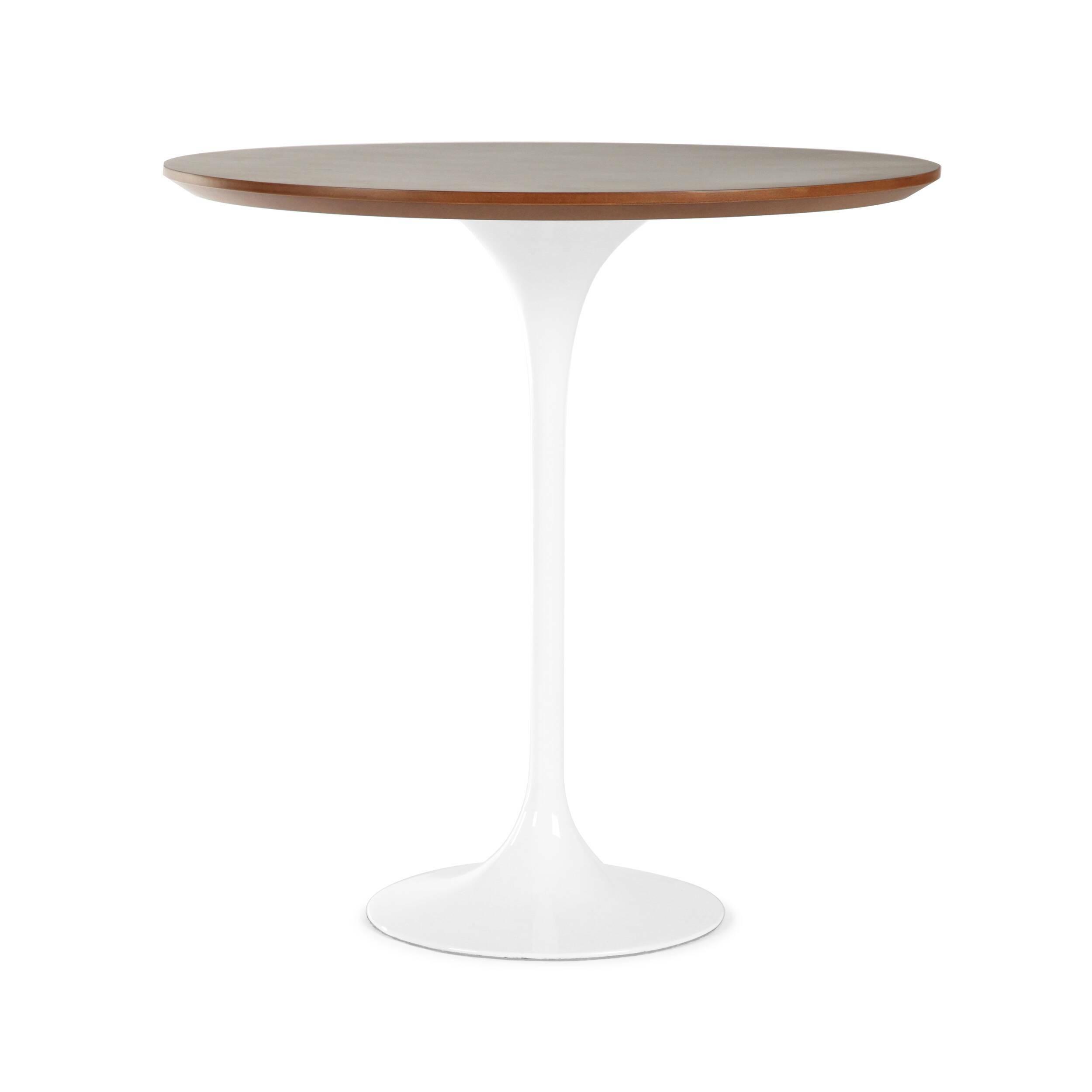 Кофейный стол Tulip с деревянной столешницей высота 52 обеденный стол tulip с деревянной столешницей диаметр 122