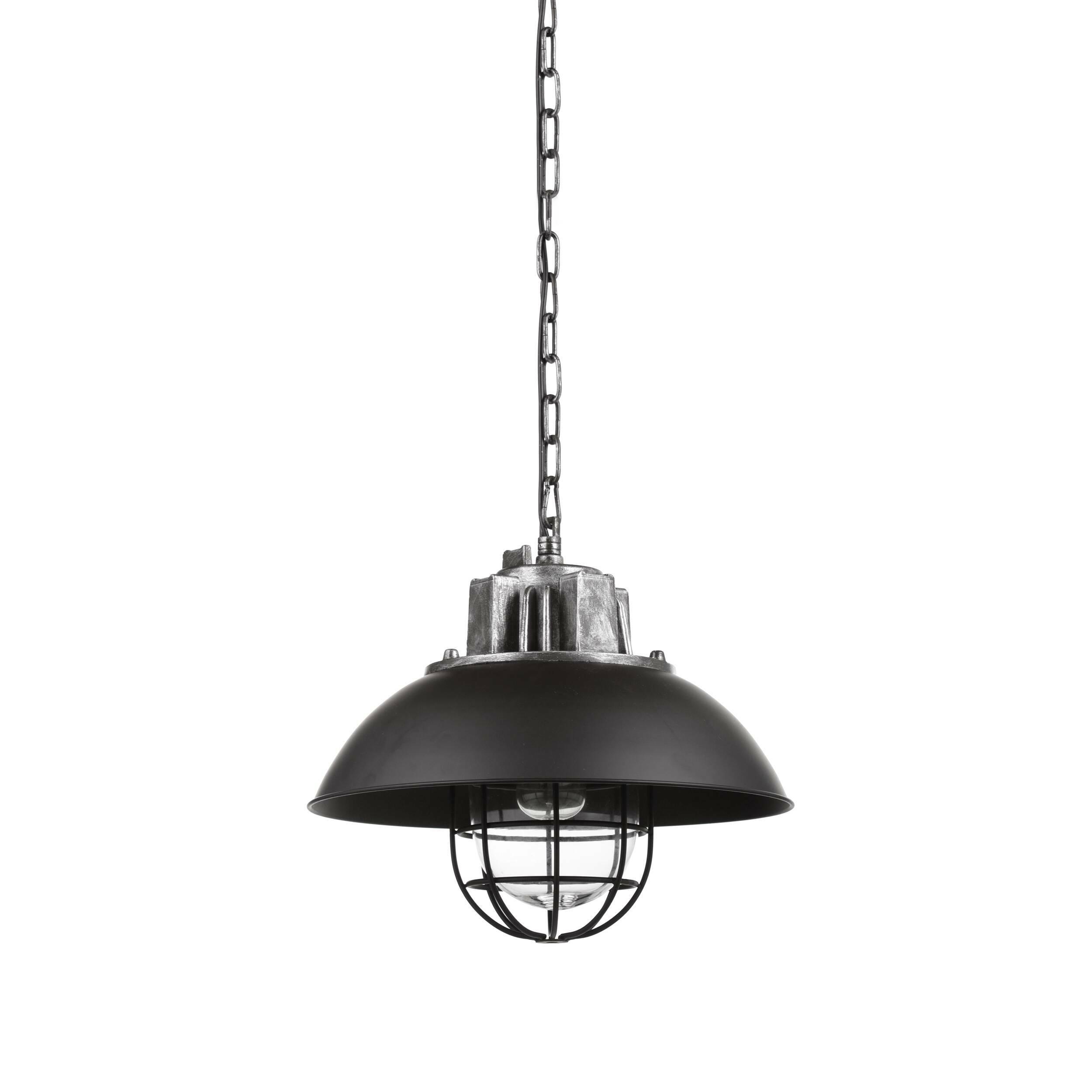 Подвесной светильник HoxtonПодвесные<br>Лофт — весьма оригинальный стиль, который допускает смешение совершенно разных направлений как в обстановке, так и в элементах декора. Ярким представителем стиля является подвесной светильник Hoxton — неповторимый дизайн, объединивший в себе черты нью-йоркского стиля и современного хай-тек-оформления.<br><br><br> Подвесной светильник Hoxton представляет собой необычную конструкцию из черного основания, плафона в виде круглого купола и необычной конструкции в виде клетки, в которую помещается ла...<br><br>stock: 1<br>Высота: 41<br>Длина: 44<br>Длина провода: 150<br>Количество ламп: 1<br>Материал абажура: Сталь<br>Мощность лампы: 40<br>Ламп в комплекте: Нет<br>Напряжение: 220<br>Тип лампы/цоколь: E27<br>Цвет абажура: Черный<br>Цвет провода: Черный