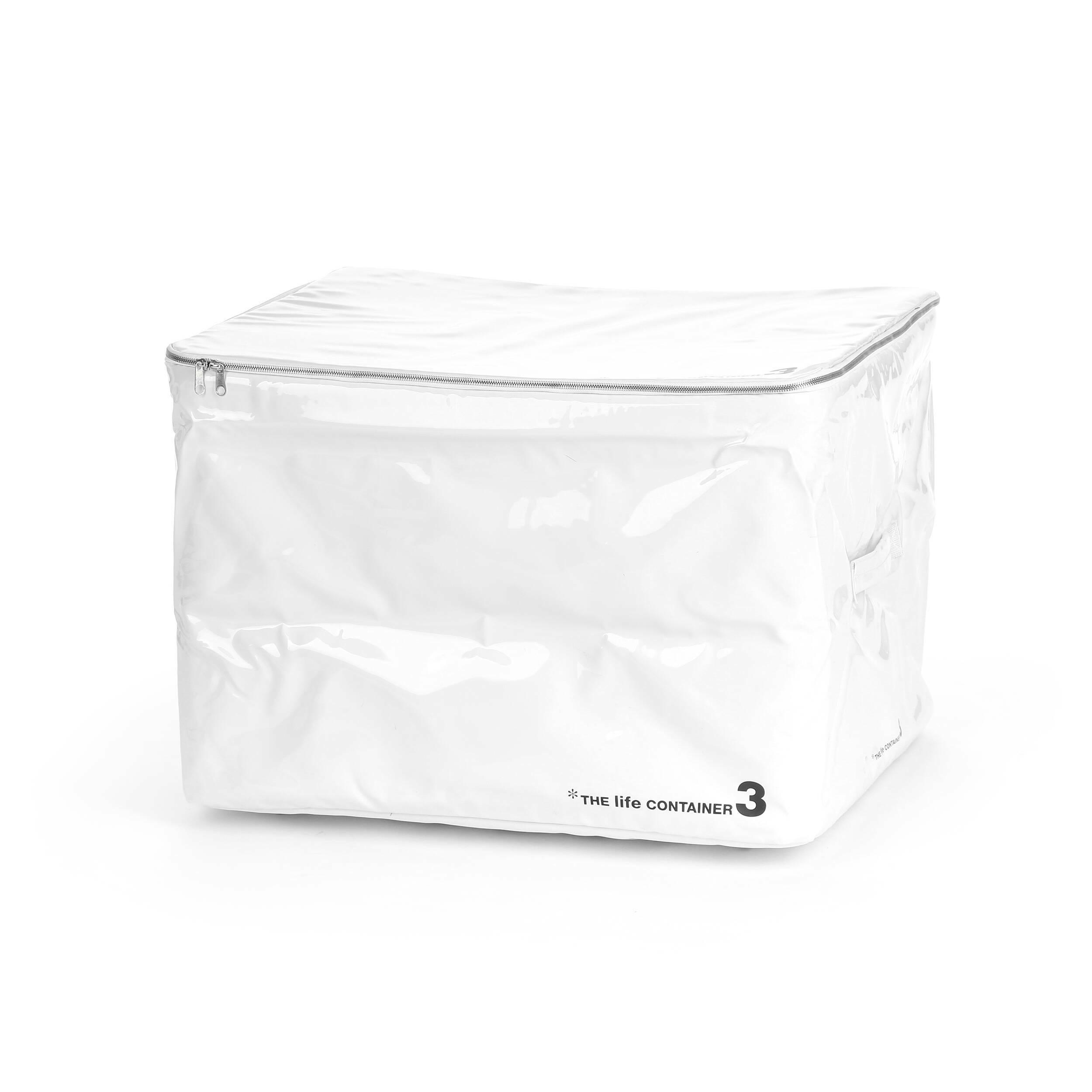 Контейнер для хранения The Life Container 3 белыйРазное<br>Дизайнерский белый контейнер для хранения The Life Container 3 (Ве Лайф Контейнер 3) из металла от Seletti (Селетти).<br>Контейнер для хранения The Life Container 3 белый — с ним вы сможете использовать гардероб по максимуму и всегда будете знать, где и что лежит. <br> <br> Коллекция The Life Container состоит из четырех контейнеров разного размера, выполненных в двух цветах — черном и белом. Каждый из них снабжен надежной молнией, которая помогает уберечь содержимое от влаги и пыли, а также мягкой...<br><br>stock: 0<br>Высота: 40<br>Ширина: 50<br>Материал: Металл<br>Цвет: Белый<br>Длина: 60