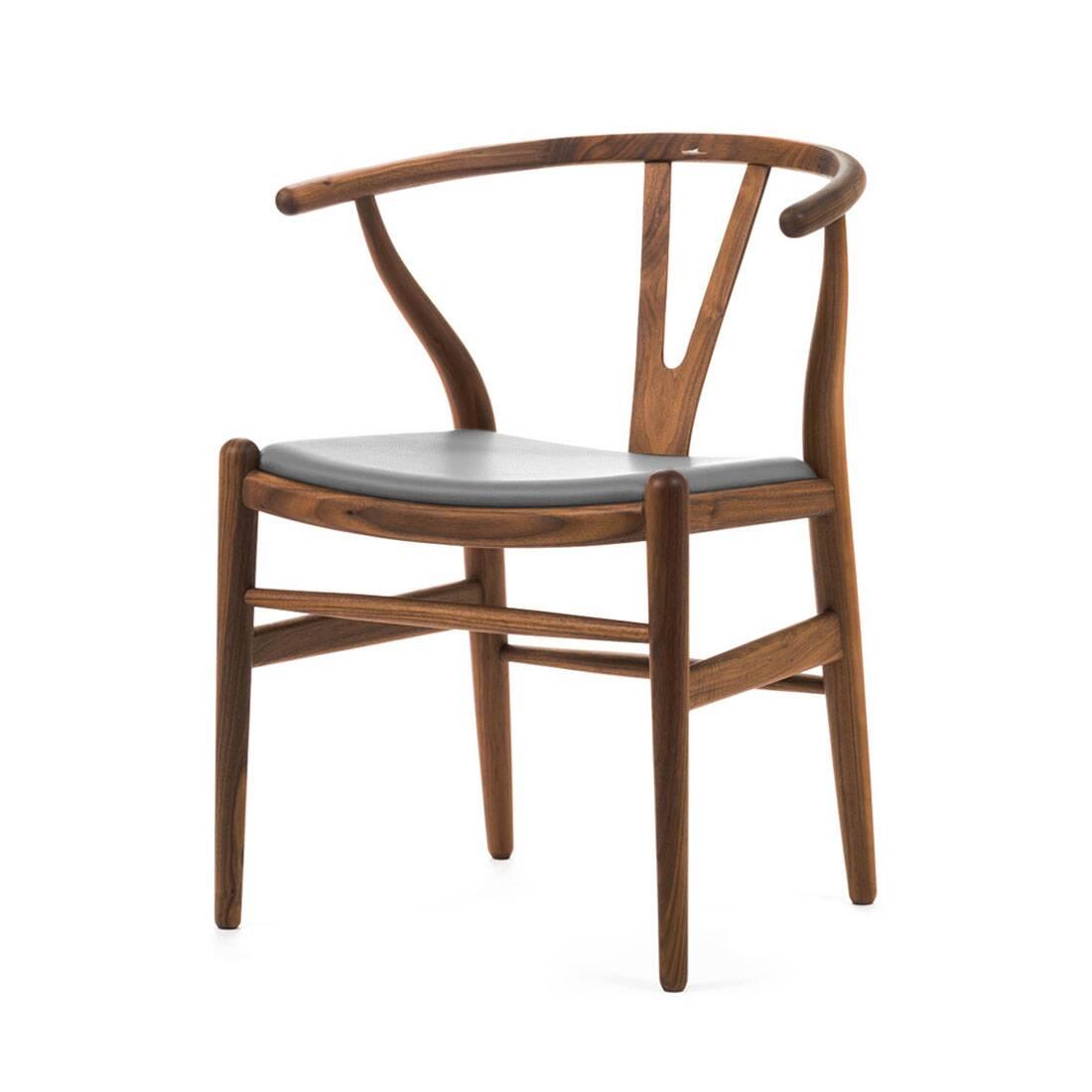 Стул Wishbone кожаный стул page
