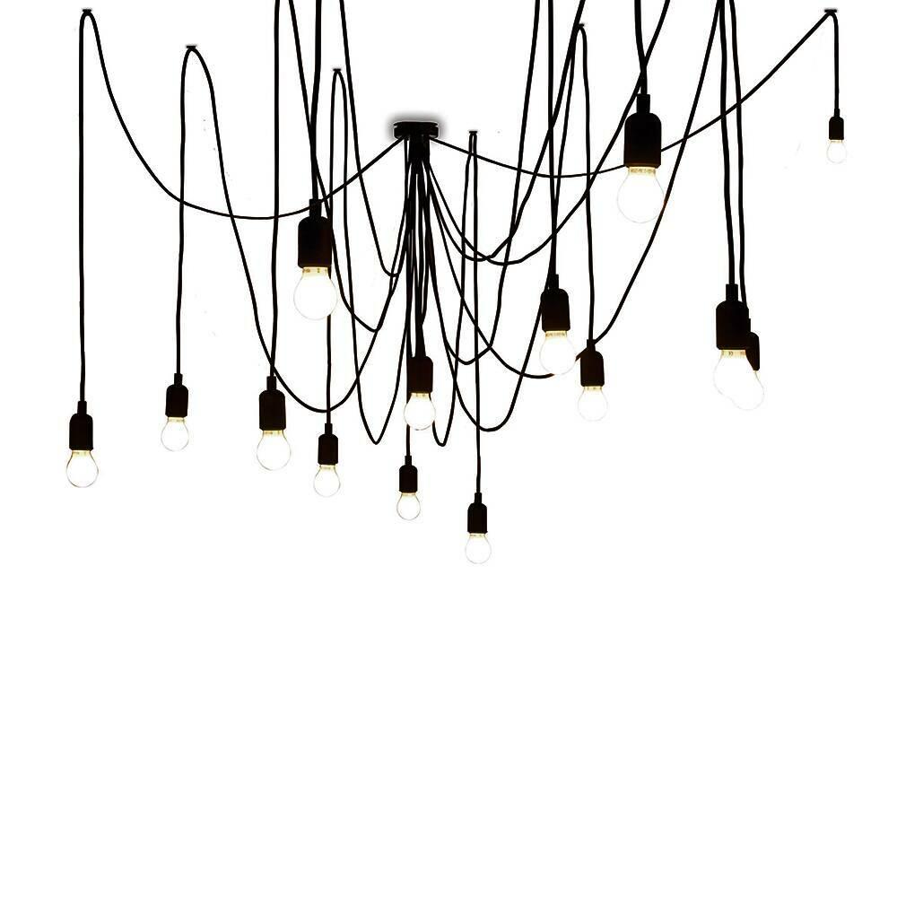 Подвесной светильник MamanПодвесные<br>Создайте драматичный акцент с помощью подвесного светильника Maman. В комплект входят 14 LED-ламп, а также 7 трехметровых и 7 четырехметровых черных кабелей. Расположить их можно как угодно в зависимости от личных предпочтений и дизайнерской задумки — создайте изогнутую линию кабеля или же подвесьте их как пучок. А вот что касается стилевой принадлежности подходящих для него интерьеров, то тут можно изрядно поломать голову. Авангард, лофт, конструктивизм и, разумеется, эклектика — вот те из н...<br><br>stock: 0<br>Цвет провода: Черный