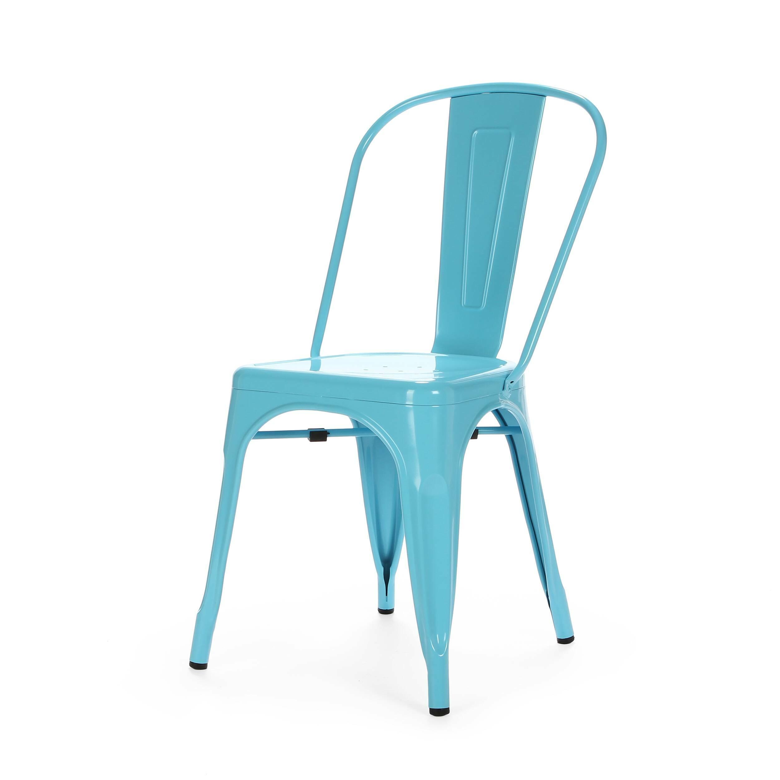 Стул Marais ColorИнтерьерные<br>Дизайнерский яркий однотонный стул Marais Color (Мэрейс Колор) из стали без подлокотников от Cosmo (Космо).<br>Яркий дизайн стула Marais Color непременно понравится вам и вашей семье. Насыщенные цвета задали положительный тон облику изделия, поэтому он невероятно актуален для декорирования гостиных, детских и кухонь в стиле лофт. Лофт — это сочетание старого (кирпичные, отштукатуренные или крашеные стены, дощатый пол) и нового (стекло, металл, ультрасовременная бытовая техника).<br><br>     Примеча...<br><br>stock: 26<br>Высота: 84,5<br>Высота сиденья: 46<br>Ширина: 53<br>Глубина: 45<br>Тип материала каркаса: Сталь<br>Цвет каркаса: Голубой