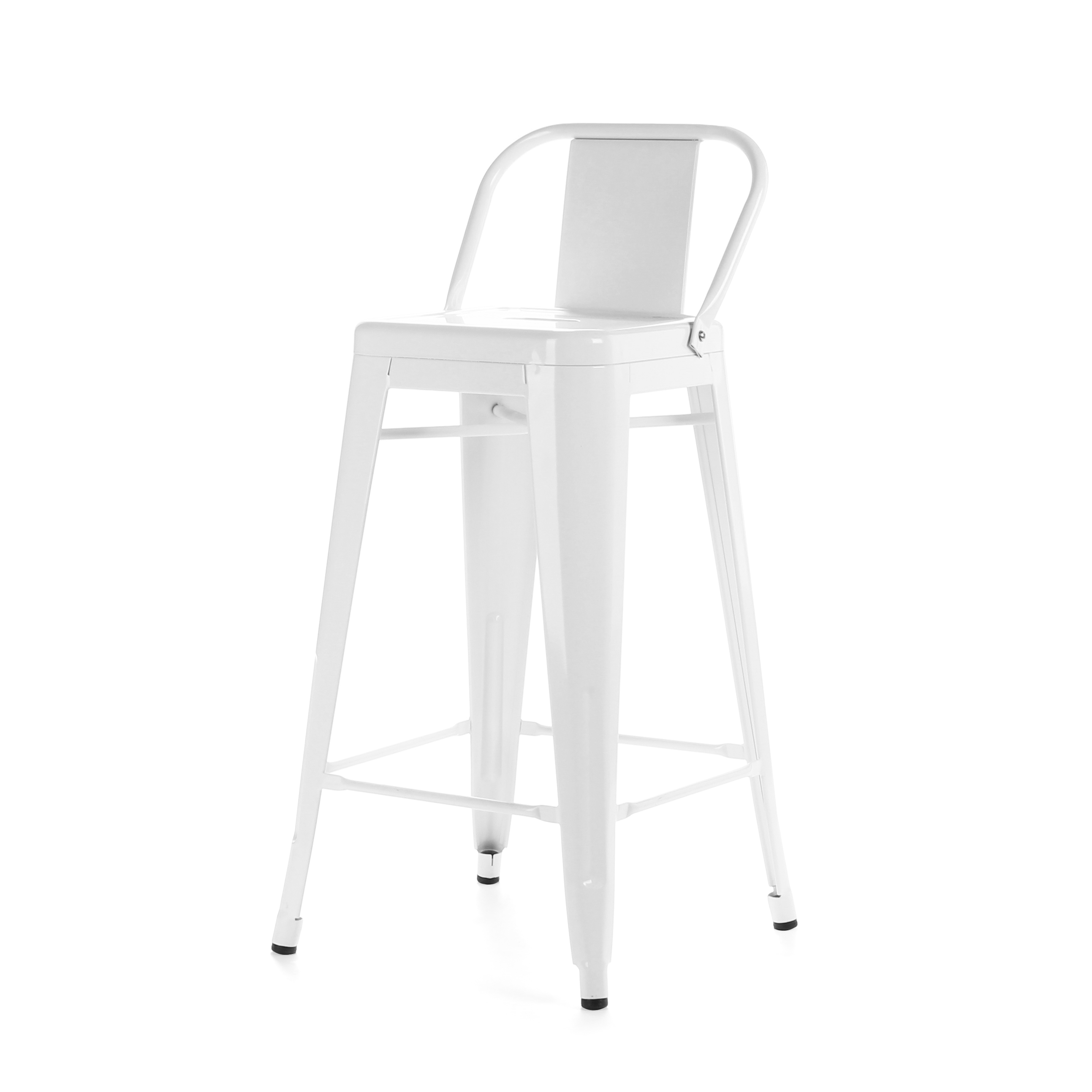 Барный стул Marais Color со спинкойБарные<br>Дизайнерский высокий стальной барный стул Marais Color (Мэрейс Калар) со спинкой от Cosmo (Космо). <br>Высокий барный стул Marais Color со спинкой — это изящное по своему дизайну изделие, которое заслужило популярность не только на родине дизайнера Ксавье Пошара, во Франции, но и по всему миру. Дизайн мебели коллекции Marais не раз был удостоен отличительных наград и демонстрировался на выставках международного масштаба, к примеру, в Нью-Йоркском музее современного искусства, а также в Музее-це...<br><br>stock: 17<br>Высота: 89<br>Высота сиденья: 66<br>Ширина: 41<br>Глубина: 41<br>Тип материала каркаса: Сталь<br>Цвет каркаса: Белый