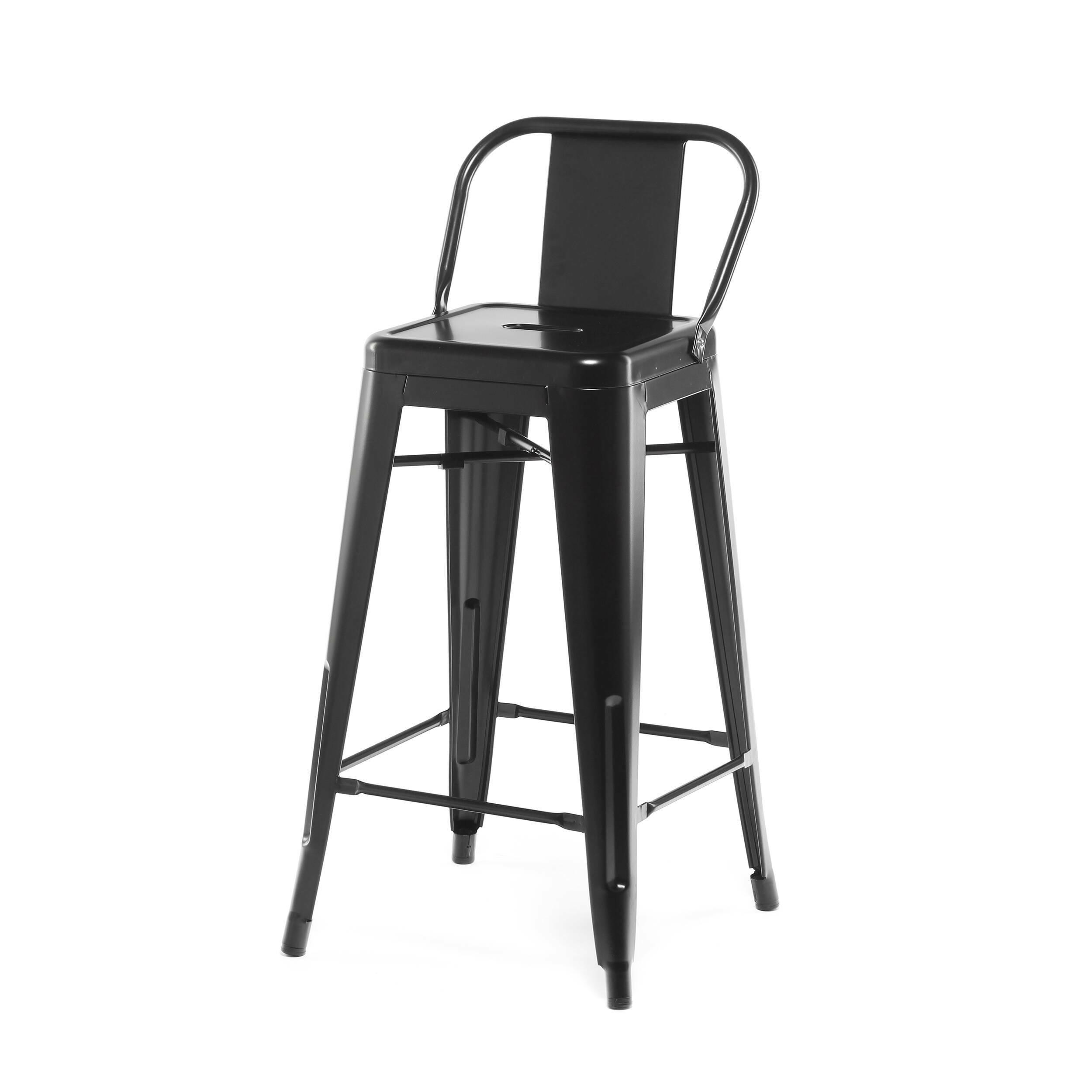 Барный стул Marais Color со спинкойБарные<br>Дизайнерский высокий стальной барный стул Marais Color (Мэрейс Калар) со спинкой от Cosmo (Космо). <br>Высокий барный стул Marais Color со спинкой — это изящное по своему дизайну изделие, которое заслужило популярность не только на родине дизайнера Ксавье Пошара, во Франции, но и по всему миру. Дизайн мебели коллекции Marais не раз был удостоен отличительных наград и демонстрировался на выставках международного масштаба, к примеру, в Нью-Йоркском музее современного искусства, а также в Музее-це...<br><br>stock: 0<br>Высота: 89<br>Высота сиденья: 66<br>Ширина: 41<br>Глубина: 41<br>Тип материала каркаса: Сталь<br>Цвет каркаса: Черный