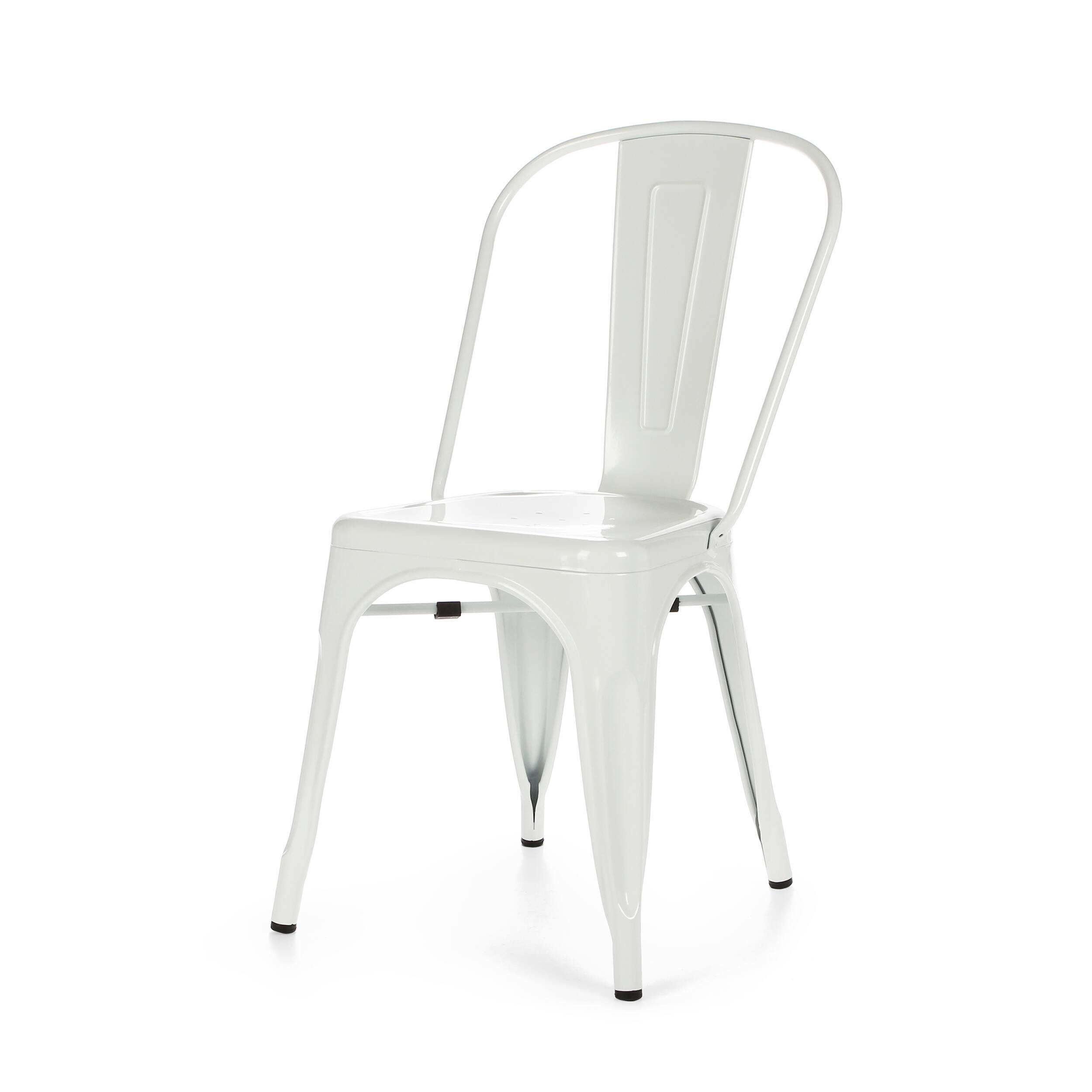 Стул Marais ColorИнтерьерные<br>Дизайнерский яркий однотонный стул Marais Color (Мэрейс Колор) из стали без подлокотников от Cosmo (Космо).<br>Яркий дизайн стула Marais Color непременно понравится вам и вашей семье. Насыщенные цвета задали положительный тон облику изделия, поэтому он невероятно актуален для декорирования гостиных, детских и кухонь в стиле лофт. Лофт — это сочетание старого (кирпичные, отштукатуренные или крашеные стены, дощатый пол) и нового (стекло, металл, ультрасовременная бытовая техника).<br><br>     Примеча...<br><br>stock: 11<br>Высота: 84,5<br>Высота сиденья: 46<br>Ширина: 53<br>Глубина: 45<br>Тип материала каркаса: Сталь<br>Цвет каркаса: Белый