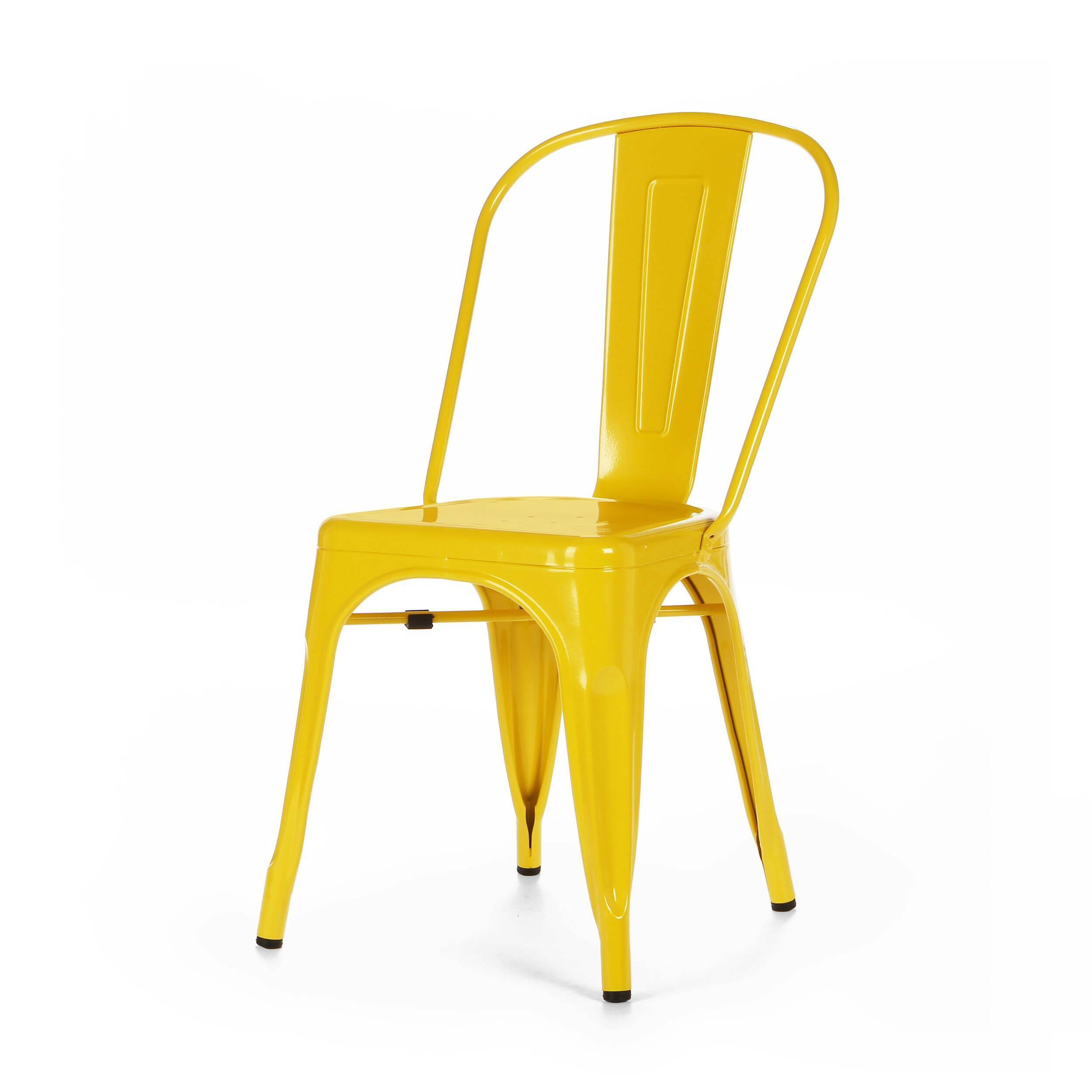 Стул Marais ColorИнтерьерные<br>Дизайнерский яркий однотонный стул Marais Color (Мэрейс Колор) из стали без подлокотников от Cosmo (Космо).<br>Яркий дизайн стула Marais Color непременно понравится вам и вашей семье. Насыщенные цвета задали положительный тон облику изделия, поэтому он невероятно актуален для декорирования гостиных, детских и кухонь в стиле лофт. Лофт — это сочетание старого (кирпичные, отштукатуренные или крашеные стены, дощатый пол) и нового (стекло, металл, ультрасовременная бытовая техника).<br><br>     Примеча...<br><br>stock: 3<br>Высота: 84,5<br>Высота сиденья: 46<br>Ширина: 53<br>Глубина: 45<br>Тип материала каркаса: Сталь<br>Цвет каркаса: Желтый