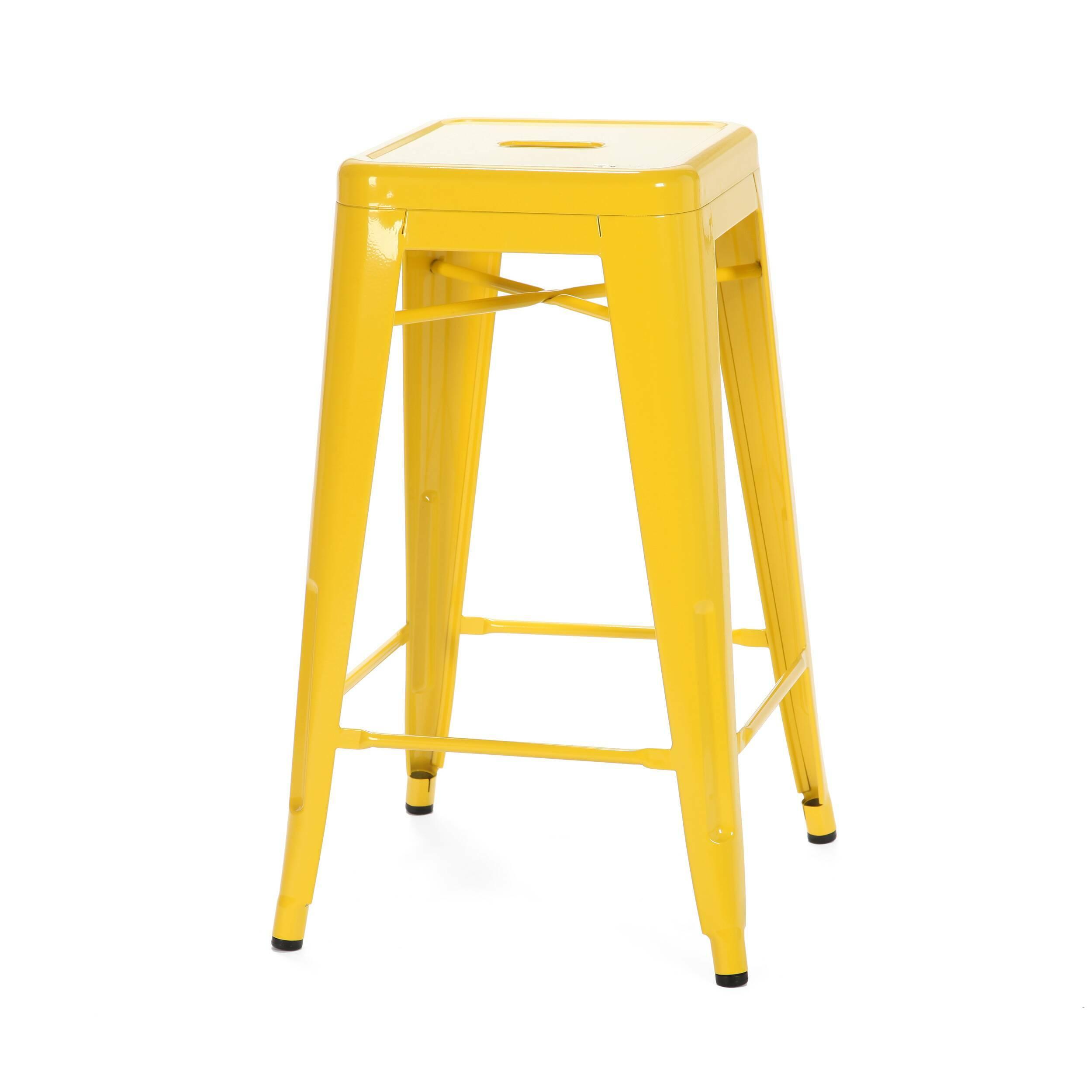 Барный стул Marais Color 2Барные<br>Дизайнерский цветной стальной барный стул Marais Color 2 (Мэрейс Калар) без спинки от Cosmo (Космо).<br> Барный стул Marais Color 2 — олицетворение винтажного стиля, его грациозные линии создают ощущение легкости и невесомости. Несмотря на хрупкий вид, этот предмет мебели невероятно прочен и долговечен. Высококачественный металл, обработанный методом гальванизации, выдерживает самые агрессивные условия окружающей среды. Не случайно модель не утратила актуальности с начала ХХ века — именно тогда...<br><br>stock: 20<br>Высота: 66<br>Ширина: 41<br>Глубина: 41<br>Тип материала каркаса: Сталь<br>Цвет каркаса: Желтый