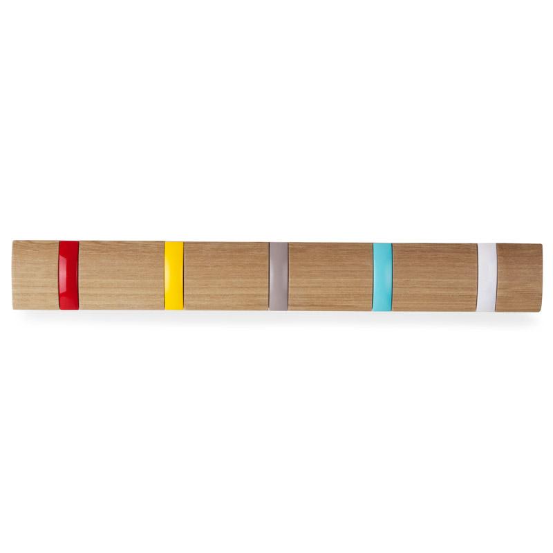 Вешалка горизонтальная Flip 5 крючков разноцветная