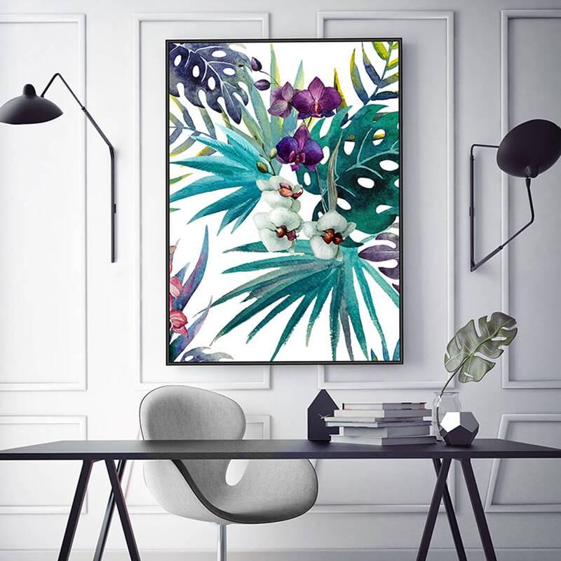 Купить Панно TROPIC FLOWER (32372-5070-1136), Cosmo, Мульти, панно под стеклом в раме