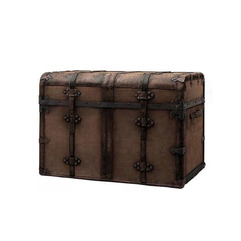 Купить Сундук (VT11878-01), Restoration Hardware, Brown, каркас массив дуба, обивка нат. кожа, фурнитура бр