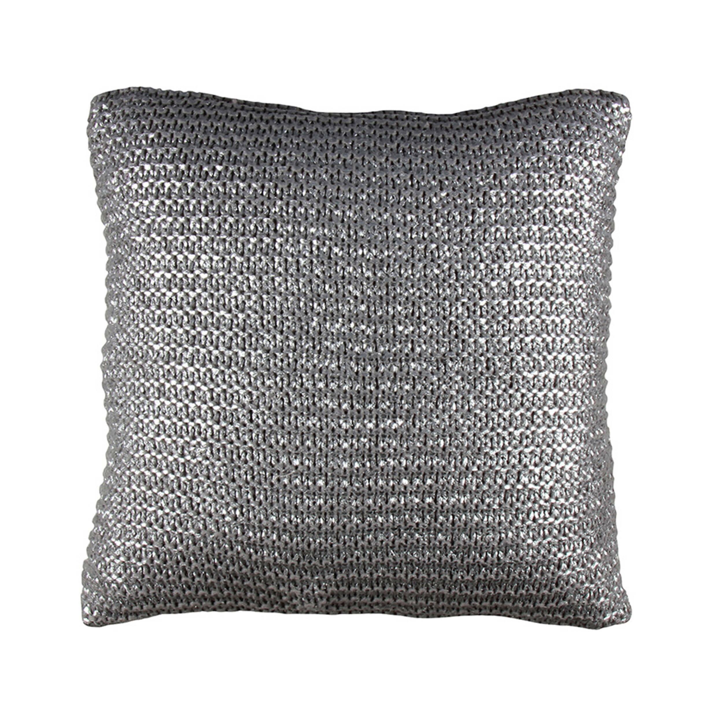 Купить Декоративная подушка ARMOUR (01024807472), Cosmo, серебро, акрил, хлопок, перо