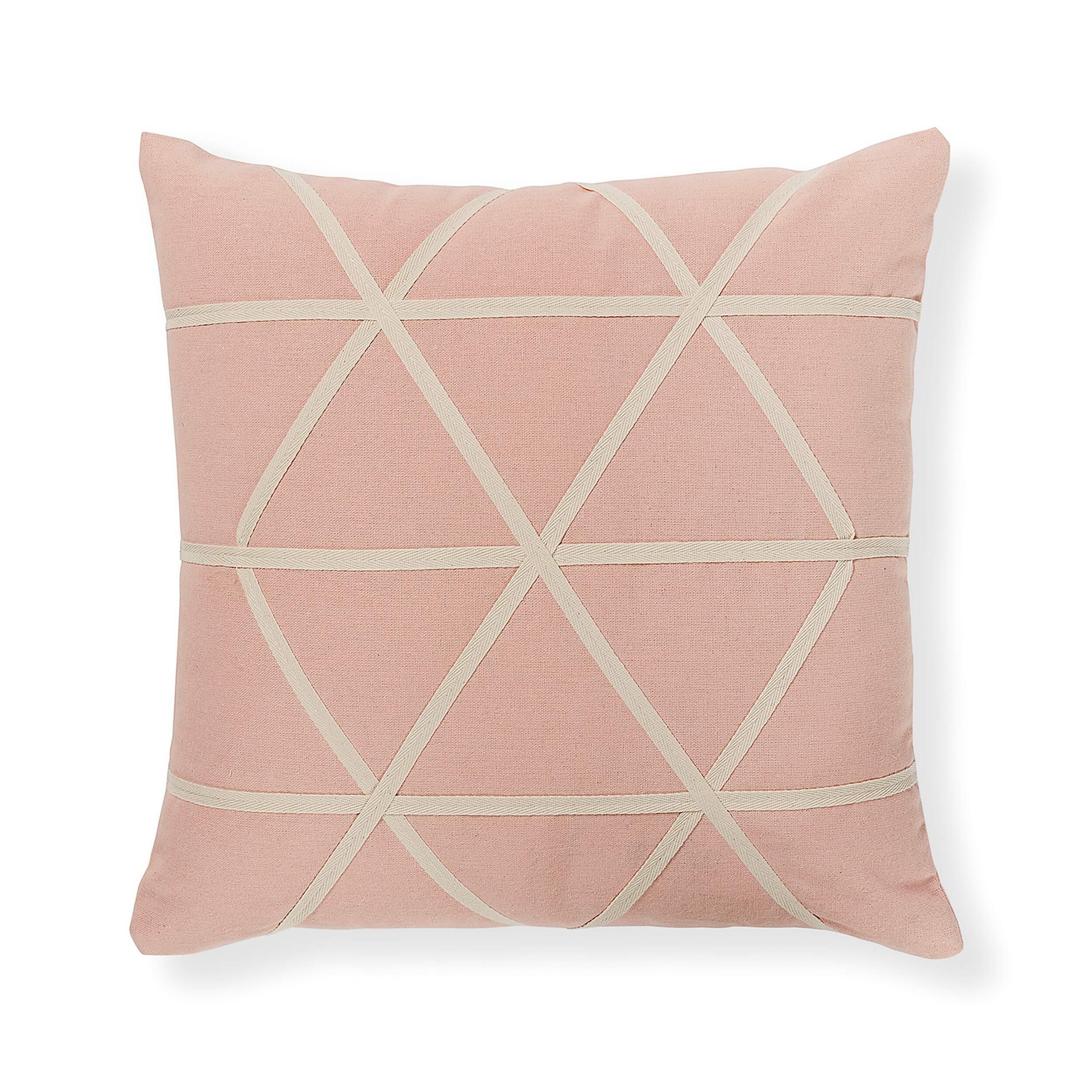 Купить Подушка YUMI 45x45 розовый, Julia Grup, Розовый, Полиэстер, Хлопок