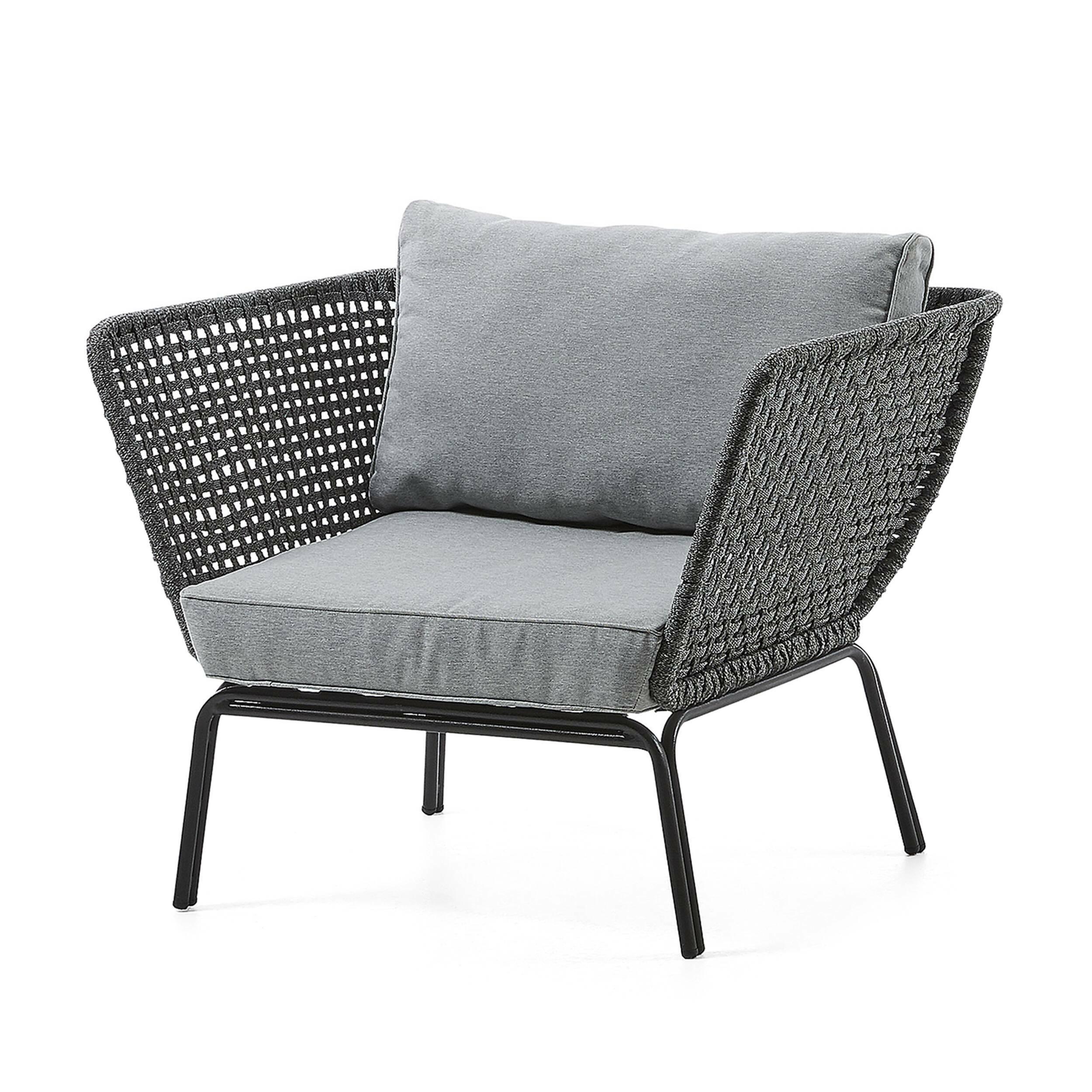 Кресло BERNIE серое металлическое