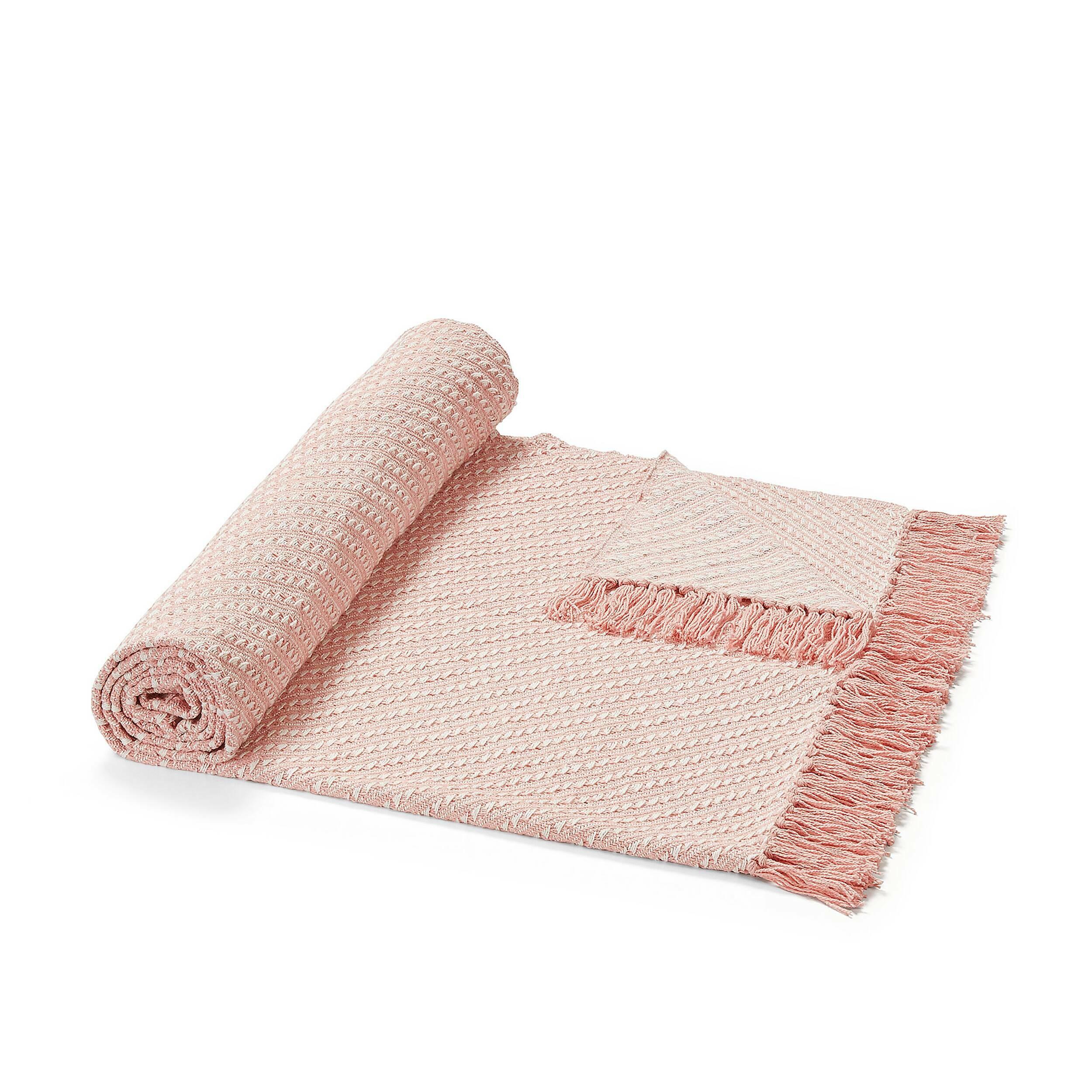 Купить Плед CHEMPS 130x170 розовый, Cosmo, Розовый, Хлопок