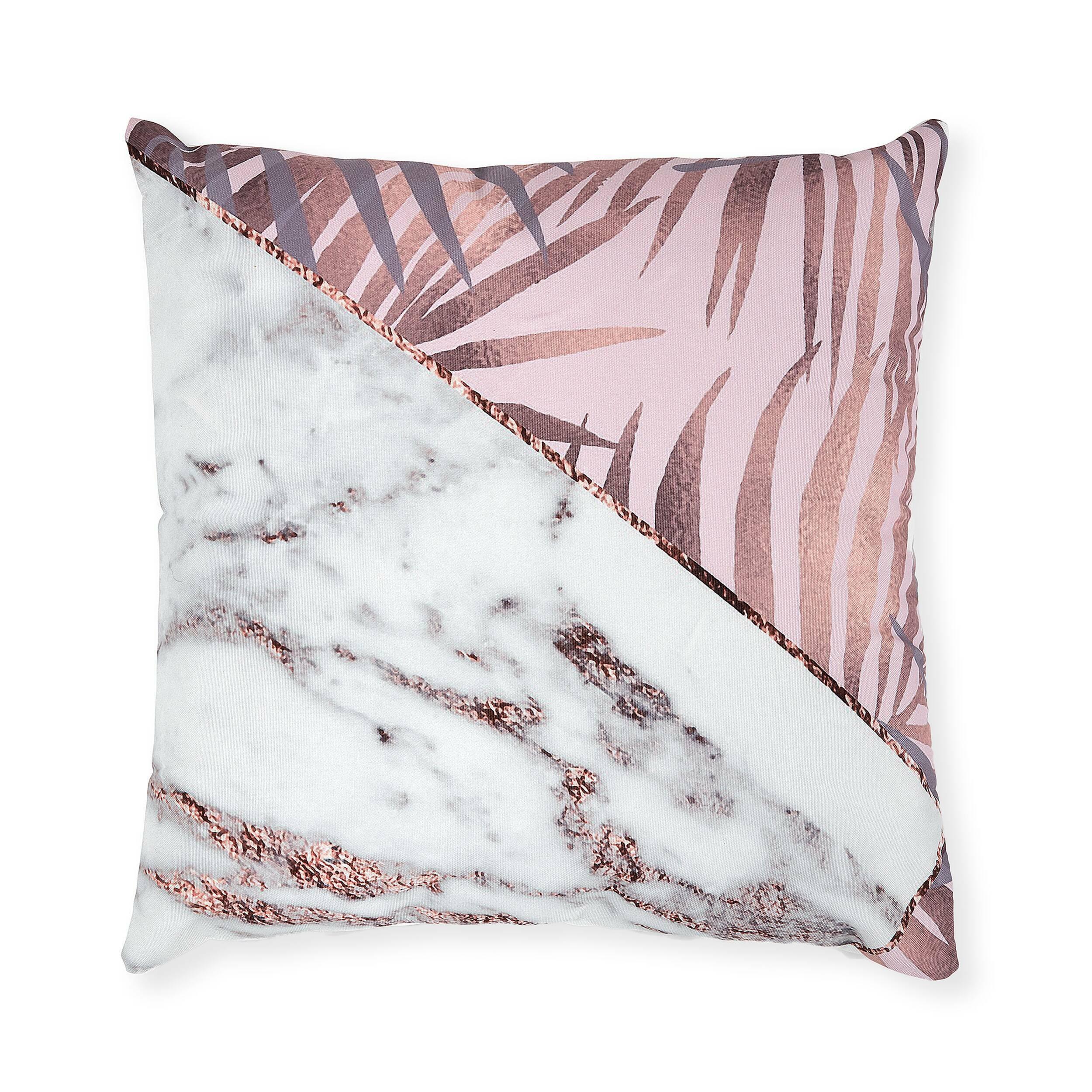 Купить Подушка JUMO 45x45 бело-розовый, Cosmo, Белый, Розовый, Полиэстер