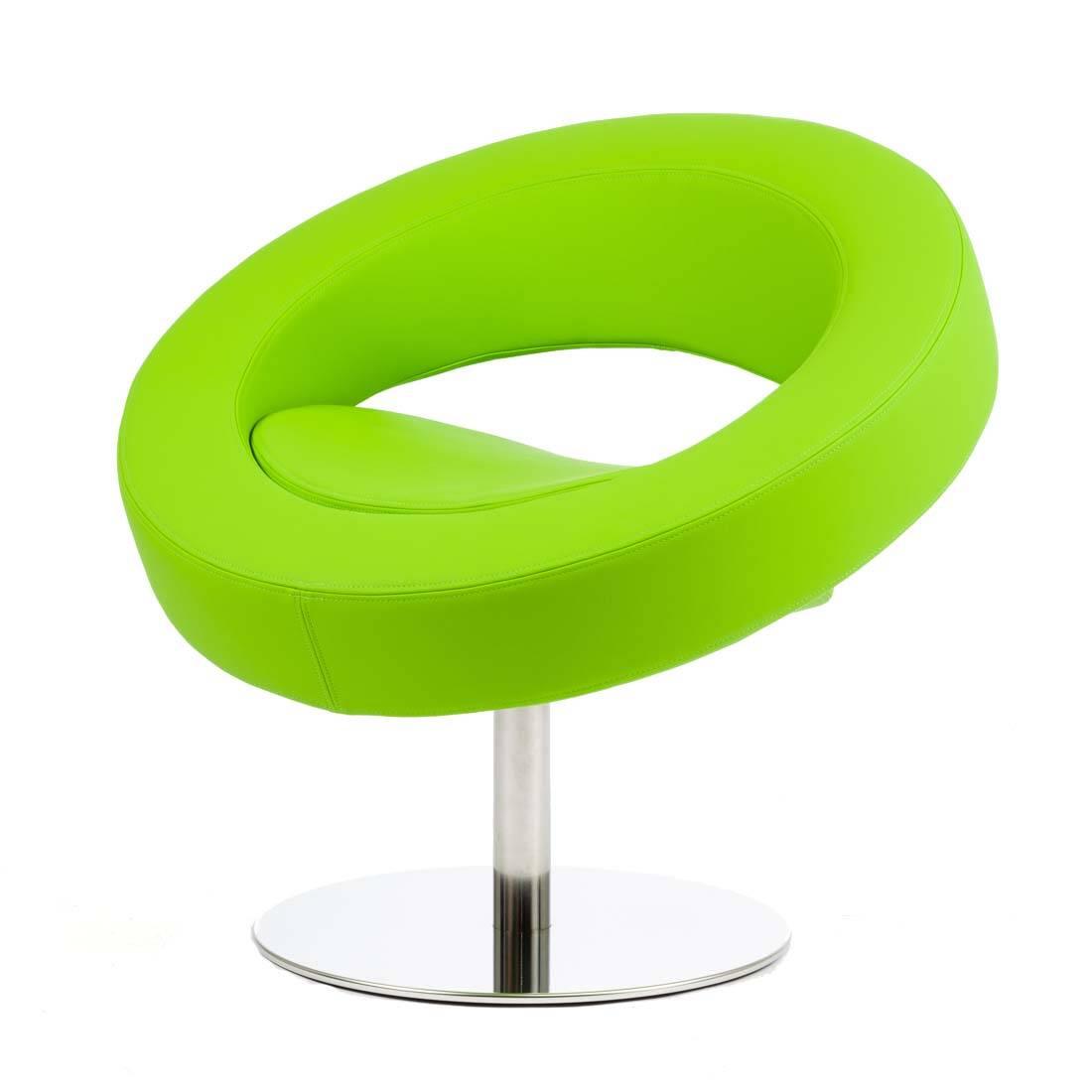 Кресло HelloИнтерьерные<br>Дизайнерское футуристичное круглое кресло Hello (Хеллоу) на узкой ножке цвета хром от Softline (Софтлайн).<br><br><br> Невероятное обаяние и характер. Кресло было заказано датской медиакорпорацией DR специально для Кайли Миноуг — харизматичной поп-дивы и удивительно жизнерадостного человека. Разработать облик необычного подарка взялся опытный дизайнер Флемминг Буск, создатель творческого дуэта и бренда Busk+Hertzog. Буск уже успешно сотрудничал с Softline, и в его послужном списке значился диван...<br><br>stock: 1<br>Высота: 70<br>Высота сиденья: 40<br>Диаметр: 75<br>Материал обивки: Полиэстер<br>Тип материала каркаса: Сталь нержавеющя<br>Коллекция ткани: Valencia<br>Цвет обивки: Лайм<br>Цвет каркаса: Хром
