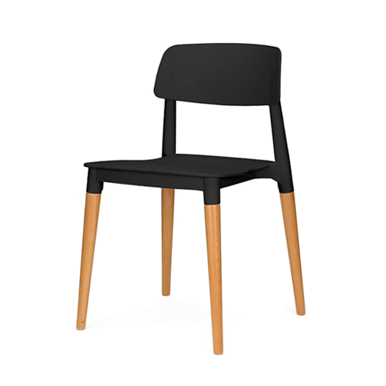 Стул BellochИнтерьерные<br>Дизайн стула Belloch разработан дизайн-студией Lagranja в соответствии с политикой компании — он на все сто процентов состоит из материалов, подлежащих дальнейшей переработке. Спинка и сиденье изделия на 60% состоят из перерабатываемого полипропилена, который в свою очередь уже получен после первичного использования, а на 40% он состоит из отработанной древесины с лесопилок.  <br> <br> Компания, подарившая нам стул Belloch, настаивает на том, что спектр мест, где можно его использовать, безгранич...<br><br>stock: 0<br>Высота: 75<br>Высота сиденья: 45<br>Ширина: 48,5<br>Глубина: 47,5<br>Цвет ножек: Светло-коричневый<br>Материал ножек: Массив бука<br>Тип материала каркаса: Полипропилен<br>Тип материала ножек: Дерево<br>Цвет каркаса: Черный