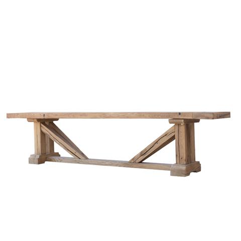 Купить Скамья Партикулар (PARTICUIER BENCH 260), Restoration Hardware, natural oak, Массив дуба состаренный