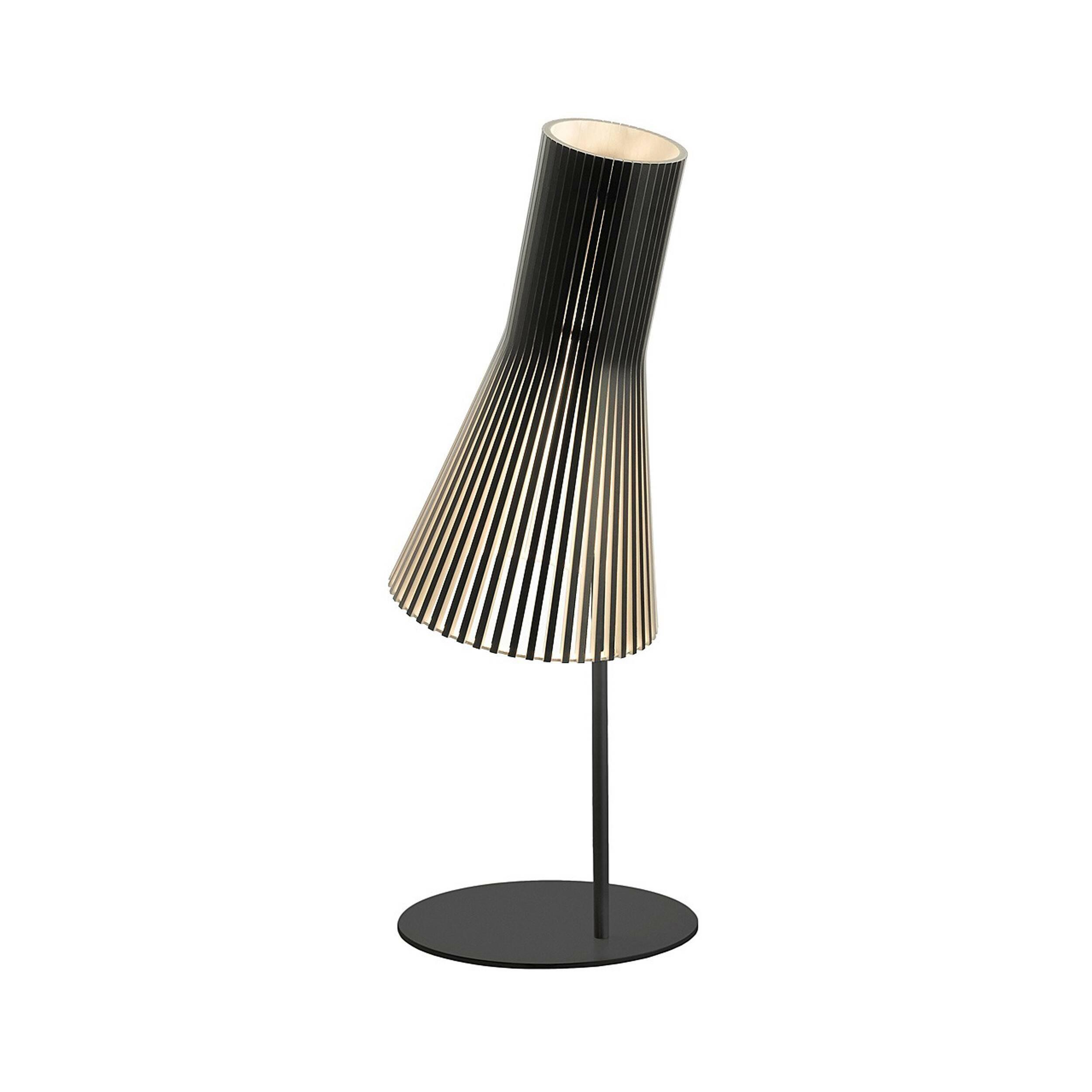 Настольный светильник Secto 4220Настольные<br>Дизайнерский настольный светильник Secto (Секто) с абажуром из березы на узкой ножке от Secto Design (Секто Дизайн).<br><br>Настольный светильник Secto 4220 производства компании Secto Design изготавливается вручную высококвалифицированными специалистами. Материалом для производства настольных светильников Secto 4220 является натуральная береза. Светильники обладают простотой и четкостью скандинавского стиля. Торшеры, подвесные и настенные светильники, а также настольные лампы обеспечивают мягк...<br><br>stock: 0<br>Высота: 75<br>Диаметр: 25<br>Материал абажура: Береза<br>Мощность лампы: 40<br>Ламп в комплекте: Нет<br>Напряжение: 220<br>Теплота света: 3000<br>Тип лампы/цоколь: E27<br>Цвет абажура: Черный