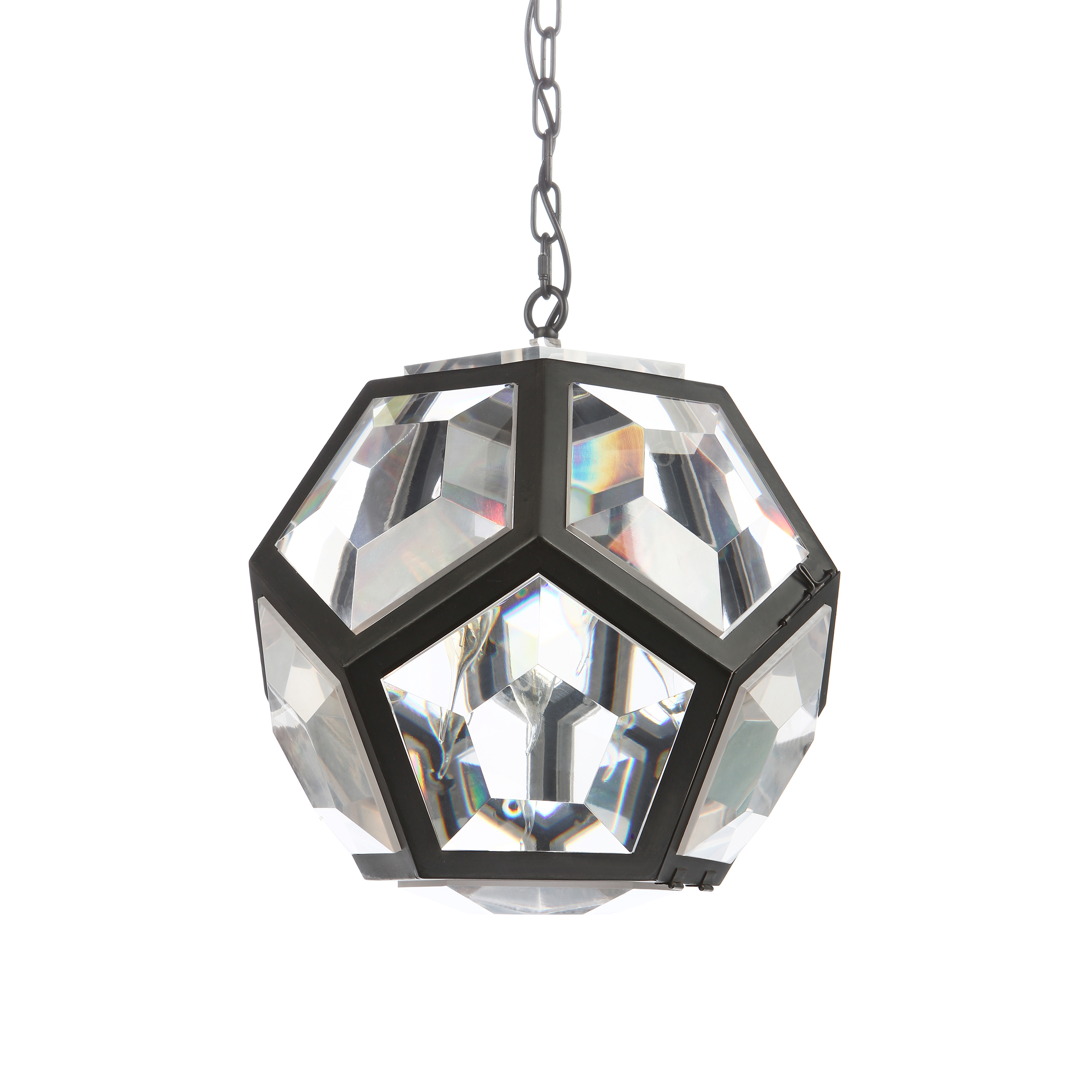 Подвесной светильник RollПодвесные<br>Порой совершенно не нужно изобретать колесо. Когда интерьер выглядит утонченно и без новомодных украшений, любые новаторства излишни. Подвесной светильник Roll — это простой, но вместе с тем роскошный источник света, который будет не просто светить, но сиять. Правильная геометрическая форма светильника открывает целый спектр возможностей. Его можно использовать в любом интерьере, как классическом, так и современном. Индустриальный стиль, модерн, лофт — вот несколько примеров направлений, где ...<br><br>stock: 7<br>Высота: 50<br>Диаметр: 50<br>Количество ламп: 5<br>Материал абажура: Пластик<br>Материал арматуры: Металл<br>Мощность лампы: 40<br>Ламп в комплекте: Нет<br>Напряжение: 220-240<br>Тип лампы/цоколь: E14<br>Цвет абажура: Прозрачный<br>Цвет арматуры: Черный<br>Цвет провода: Черный