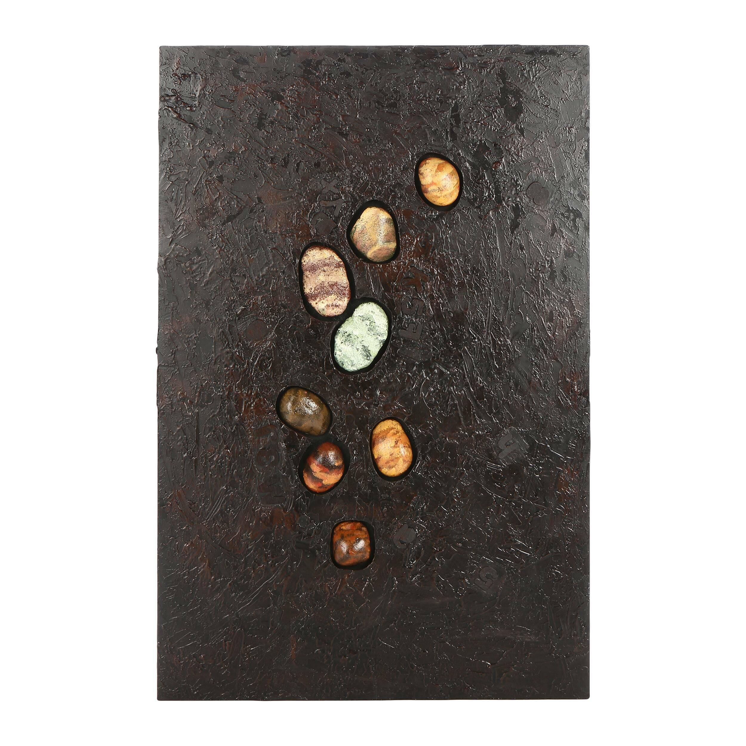Картина ConcreteКартины<br>Картина Concrete — это вариация другой картины от компании Cosmo — Melting, своего рода цветной вариант, который подходит другим по цветовому оформлению помещениям. Однако она создает несколько другой эффект. Если на первой изображена галька, напоминающая метеориты с далеких планет, которые будто расплавили под собой полотно, то здесь же создается впечатление, что камешки впечатаны в бетонный настил. Отсюда и название — Concrete, что с английского переводится как «бетон». Однако художник одни...<br><br>stock: 6<br>Ширина: 120<br>Материал: Роспись по дереву<br>Цвет: Темно-серый<br>Длина: 80