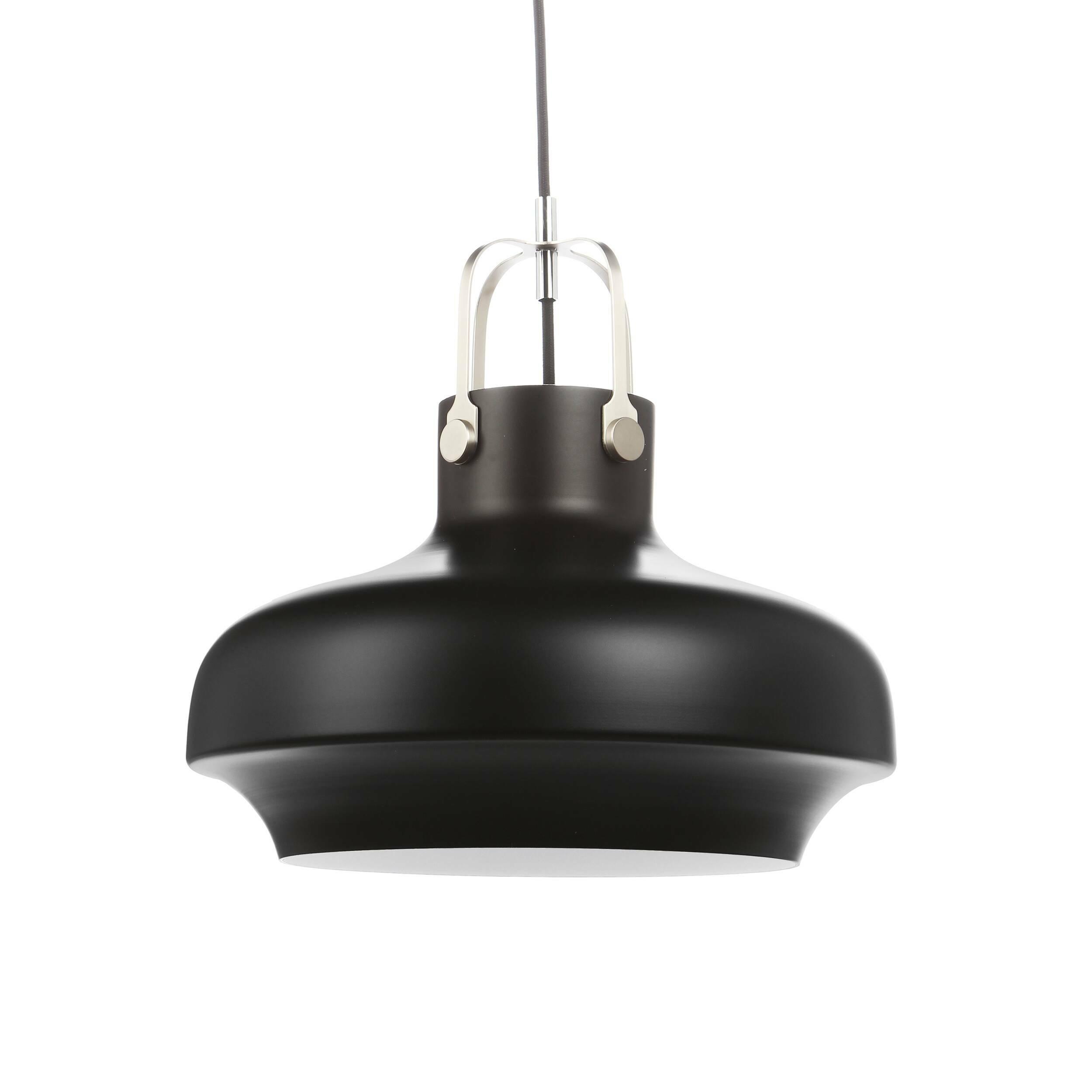 Подвесной светильник Copenhagen диаметр 35Подвесные<br>«Нам хотелось создать дизайн подвесного светильника с небольшим акцентом на индустриальный стиль, чтобы элегантность  и утонченность изделия никак не пострадала», — говорят дизайнеры светильника Copenhagen. <br><br><br> Подвесной светильник Copenhagen диаметр 35 — это наглядный пример гармонии контрастных цветов. Комбинирование современного и классического дизайна, морской и индустриальной стилистики рождают стильный подвесной светильник, которому нельзя отказать в красоте.<br><br><br> П...<br><br>stock: 0<br>Высота: 180<br>Диаметр: 35<br>Количество ламп: 1<br>Материал абажура: Алюминий<br>Мощность лампы: 40<br>Ламп в комплекте: Нет<br>Напряжение: 220<br>Тип лампы/цоколь: E27<br>Цвет абажура: Черный