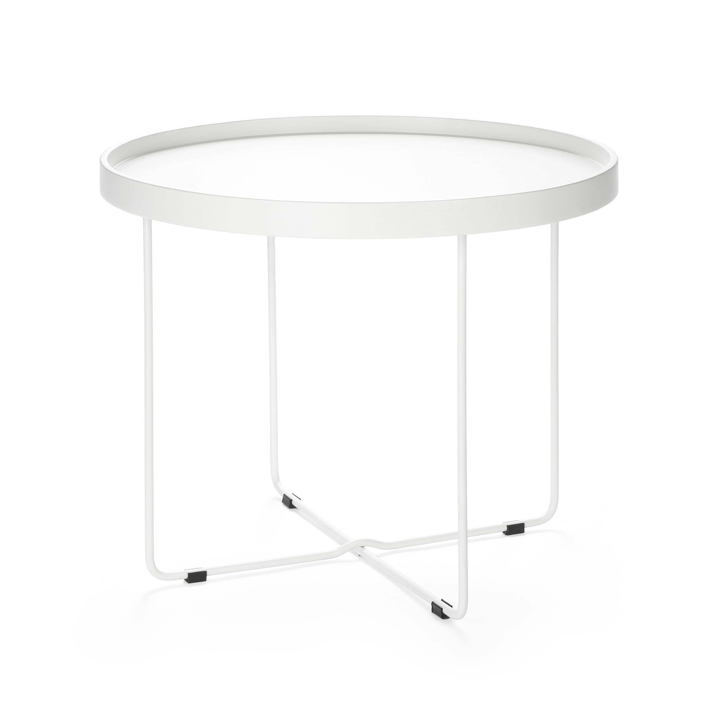 Кофейный стол ArvikaКофейные столики<br>Дизайнерский круглый легкий кофейный столик Arvika (Арвика) на высоких ножках от Cosmo (Космо).<br><br>Кофейный стол в домашнем интерьере не всегда необходим, но ценится теми, кто любит понежиться в удобном кресле за просмотром фильмов или сериалов. Но как быть, когда в квартире не хватает места, чтобы иметь отдельный столик для кофе? На это у компании Cosmo есть ответ — компактность. Благодаря конструкции и без того небольшой оригинальный кофейный стол Arvika легко складывается, и его не менее...<br><br>stock: 0<br>Высота: 50<br>Диаметр: 60<br>Цвет ножек: Белый<br>Цвет столешницы: Белый<br>Тип материала столешницы: МДФ<br>Тип материала ножек: Сталь