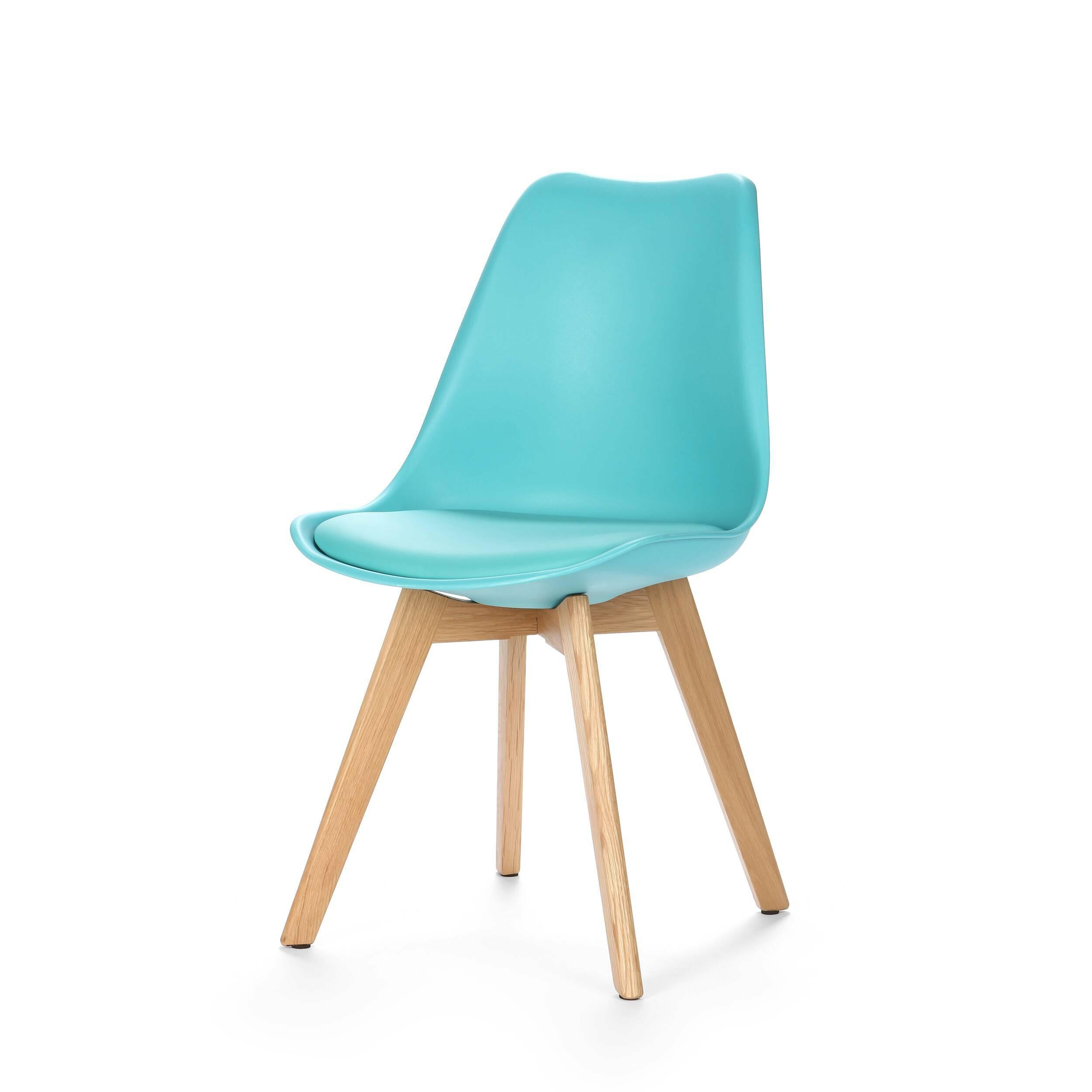 Стул SephiИнтерьерные<br>Дизайнерский креативный легкий однотонный стул Sephi (Сефи) из полиуретана на деревянных ножках от Cosmo (Космо).<br>Универсальный благодаря способности сочетаться с разными по стилю интерьерами, дизайн стула Sephi, возможно, как раз то, что вы искали. Даже если спустя время вы решили затеять ремонт, будьте уверены: и для него стул Sephi подойдет прекрасно! Экспериментируя с цветами стен, напольного покрытия или аксессуаров, создавая собственные дизайн-проекты, непременно включите в них и этот ...<br><br>stock: 1<br>Высота: 84<br>Ширина: 48.5<br>Глубина: 54.5<br>Цвет ножек: Белый дуб<br>Материал ножек: Массив дуба<br>Тип материала каркаса: Пластик<br>Материал сидения: Полиуретан<br>Цвет сидения: Бирюзовый<br>Тип материала сидения: Кожа искусственная<br>Тип материала ножек: Дерево<br>Цвет каркаса: Бирюзовый