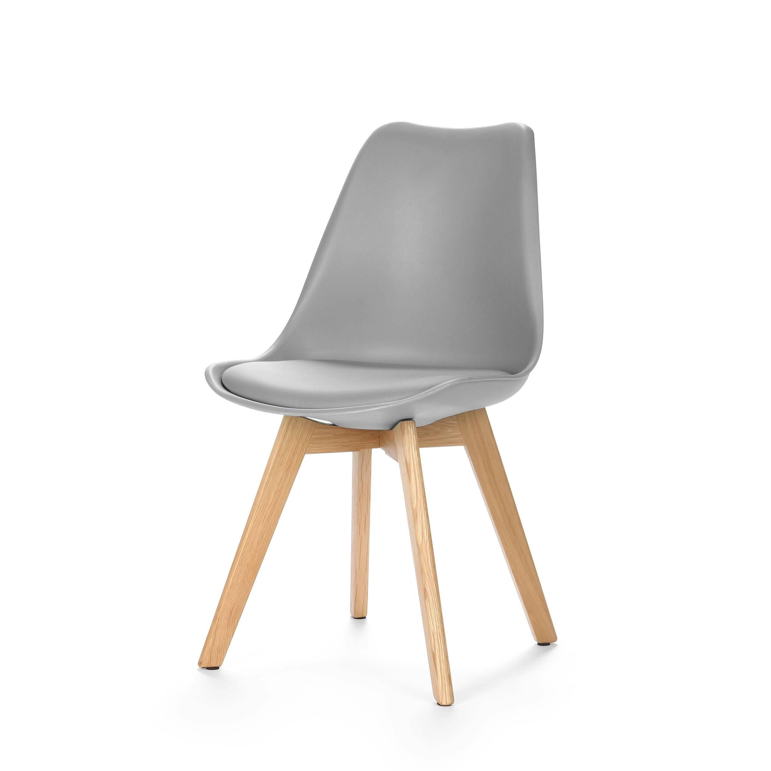 Стул SephiИнтерьерные<br>Дизайнерский креативный легкий однотонный стул Sephi (Сефи) из полиуретана на деревянных ножках от Cosmo (Космо).<br>Универсальный благодаря способности сочетаться с разными по стилю интерьерами, дизайн стула Sephi, возможно, как раз то, что вы искали. Даже если спустя время вы решили затеять ремонт, будьте уверены: и для него стул Sephi подойдет прекрасно! Экспериментируя с цветами стен, напольного покрытия или аксессуаров, создавая собственные дизайн-проекты, непременно включите в них и этот ...<br><br>stock: 0<br>Высота: 84<br>Ширина: 48.5<br>Глубина: 54.5<br>Цвет ножек: Белый дуб<br>Материал ножек: Массив дуба<br>Тип материала каркаса: Пластик<br>Материал сидения: Полиуретан<br>Цвет сидения: Серый<br>Тип материала сидения: Кожа искусственная<br>Тип материала ножек: Дерево<br>Цвет каркаса: Серый