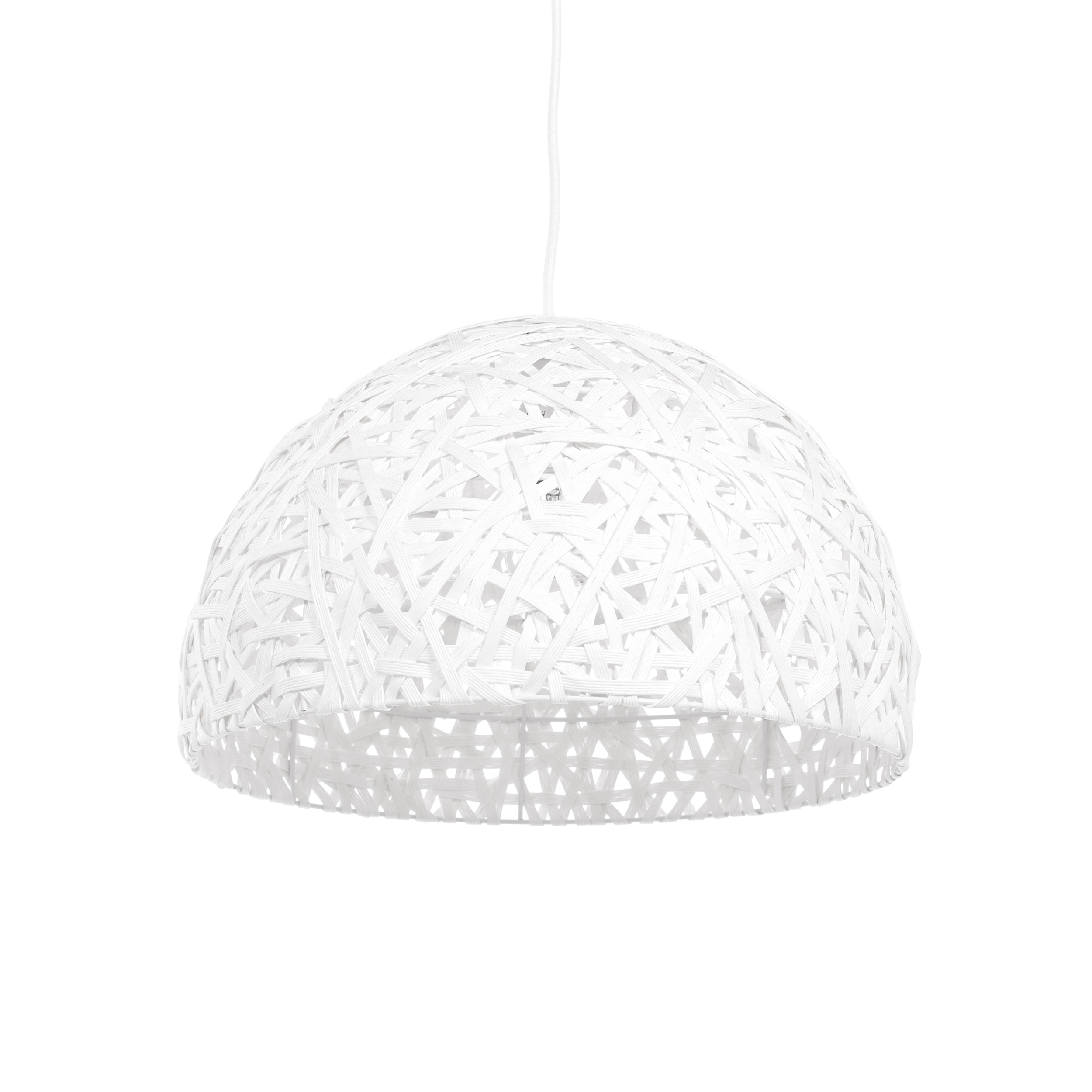 Подвесной светильник NestПодвесные<br>Порой чтобы создать по-настоящему стильный интерьер, совершенно не обязательно прибегать к покупке дорогостоящего наполнения. Очень важно достигнуть баланса простоты и стиля мебели, света и декора. Подвесной светильник Nest — это отличный инструмент, с которым можно создать сдержанный, но стильный дизайн помещения для жизни. <br> <br> Светильник можно использовать как в интерьере гостиной, так и кухни. Дизайнер предусмотрел два цветовых решения, поэтому светильник легко приспособить именно под ва...<br><br>stock: 37<br>Высота: 150<br>Диаметр: 40<br>Количество ламп: 1<br>Материал абажура: Бумага<br>Материал арматуры: Металл<br>Мощность лампы: 40<br>Ламп в комплекте: Нет<br>Напряжение: 220-240<br>Тип лампы/цоколь: E27<br>Цвет абажура: Белый<br>Цвет арматуры: Белый<br>Цвет провода: Белый