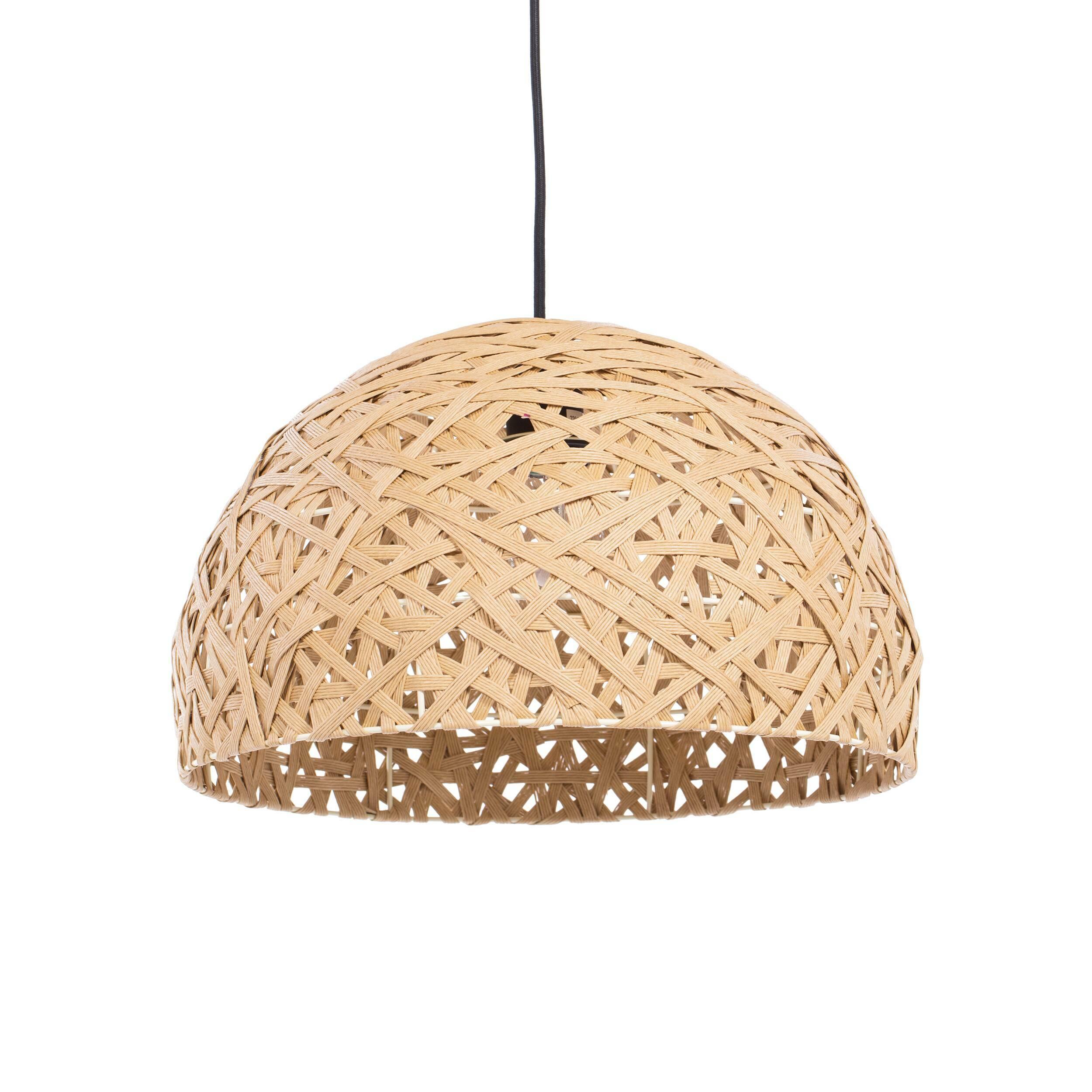 Подвесной светильник NestПодвесные<br>Порой чтобы создать по-настоящему стильный интерьер, совершенно не обязательно прибегать к покупке дорогостоящего наполнения. Очень важно достигнуть баланса простоты и стиля мебели, света и декора. Подвесной светильник Nest — это отличный инструмент, с которым можно создать сдержанный, но стильный дизайн помещения для жизни. <br> <br> Светильник можно использовать как в интерьере гостиной, так и кухни. Дизайнер предусмотрел два цветовых решения, поэтому светильник легко приспособить именно под ва...<br><br>stock: 39<br>Высота: 150<br>Диаметр: 40<br>Количество ламп: 1<br>Материал абажура: Бумага<br>Материал арматуры: Металл<br>Мощность лампы: 40<br>Ламп в комплекте: Нет<br>Напряжение: 220-240<br>Тип лампы/цоколь: E27<br>Цвет абажура: Натуральный<br>Цвет арматуры: Черный матовый<br>Цвет провода: Черный