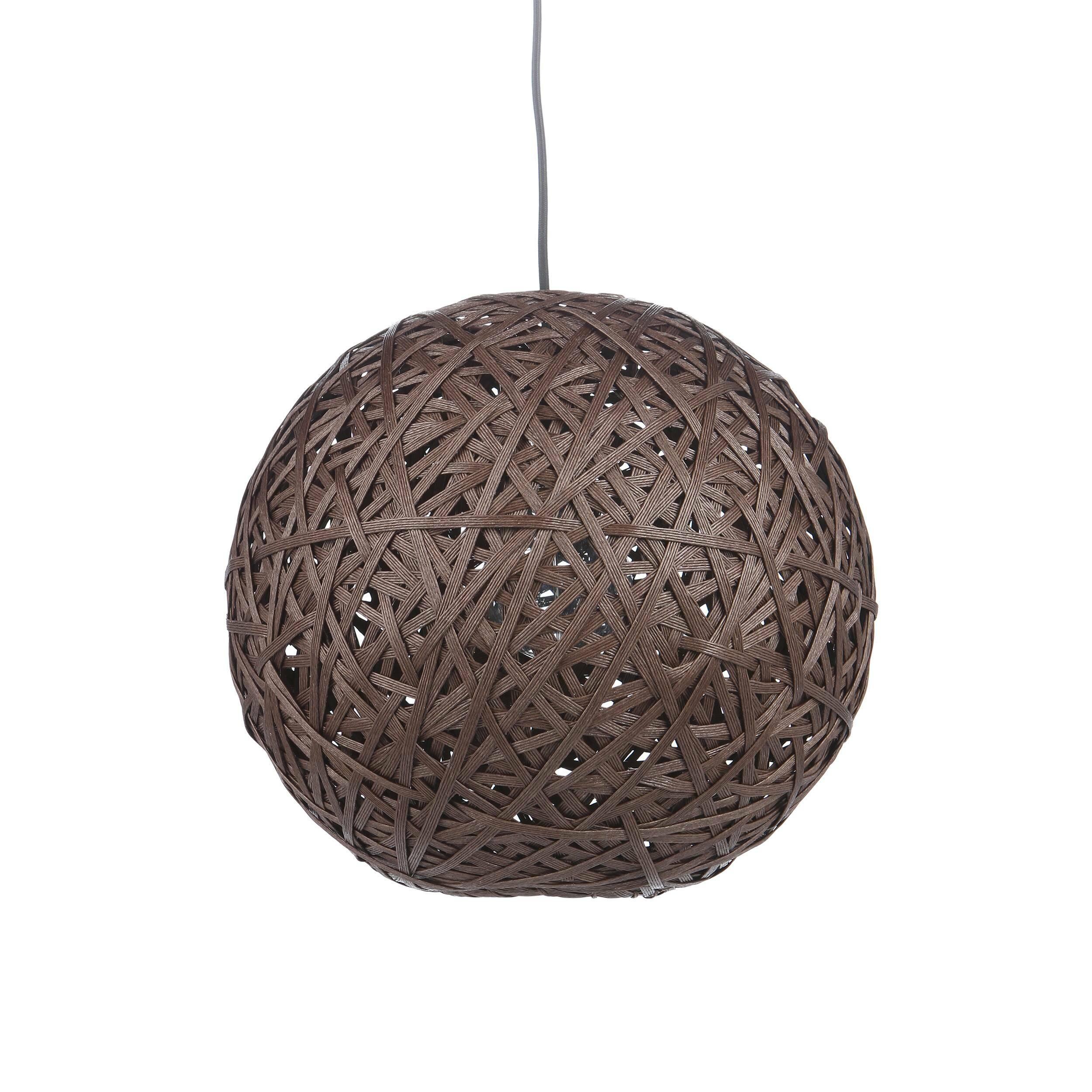 Подвесной светильник Nest BallПодвесные<br>Порой чтобы создать по-настоящему стильный интерьер, совершенно не обязательно прибегать к покупке дорогостоящего наполнения. Очень важно достигнуть баланса простоты и стиля мебели, света и декора. Подвесной светильник Nest Ball — это отличный инструмент, с которым можно создать сдержанный, но стильный дизайн помещения для жизни. <br> <br> Благодаря шарообразной форме абажура, светильник создает необычный световой рисунок на стенах — один из последних трендов в мире дизайна интерьеров. Это уникал...<br><br>stock: 22<br>Высота: 150<br>Диаметр: 40<br>Количество ламп: 1<br>Материал абажура: Бумага<br>Материал арматуры: Металл<br>Мощность лампы: 40<br>Ламп в комплекте: Нет<br>Напряжение: 220-240<br>Тип лампы/цоколь: E27<br>Цвет абажура: Коричневый<br>Цвет арматуры: Черный матовый<br>Цвет провода: Черный