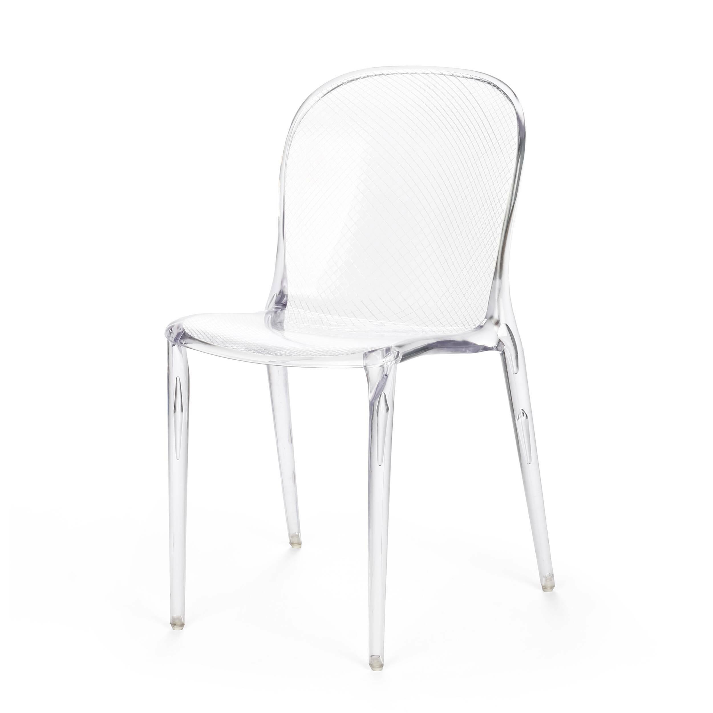 Стул VioletИнтерьерные<br>Дизайнерский стул Violet подогревает интерес к любому интерьеру, в котором он находится. Неважно, хай-тек это или же ар-деко, модерн или даже современный восточный интерьер, если в вашем интерьере присутствует данный предмет мебели с необычным фиолетовым оттенком, значит, похвалы вам обеспечены, как и внимание со стороны ваших гостей и друзей.<br><br><br> Купить стул Violet — это очень серьезное и оригинальное решение, ведь не каждый сумеет совладать с необычным, ярким и бросающимся в глаза ди...<br><br>stock: 0<br>Высота: 83<br>Высота сиденья: 45<br>Ширина: 50<br>Глубина: 53,5<br>Материал каркаса: Поликарбонат<br>Тип материала каркаса: Пластик<br>Цвет каркаса: Прозрачный