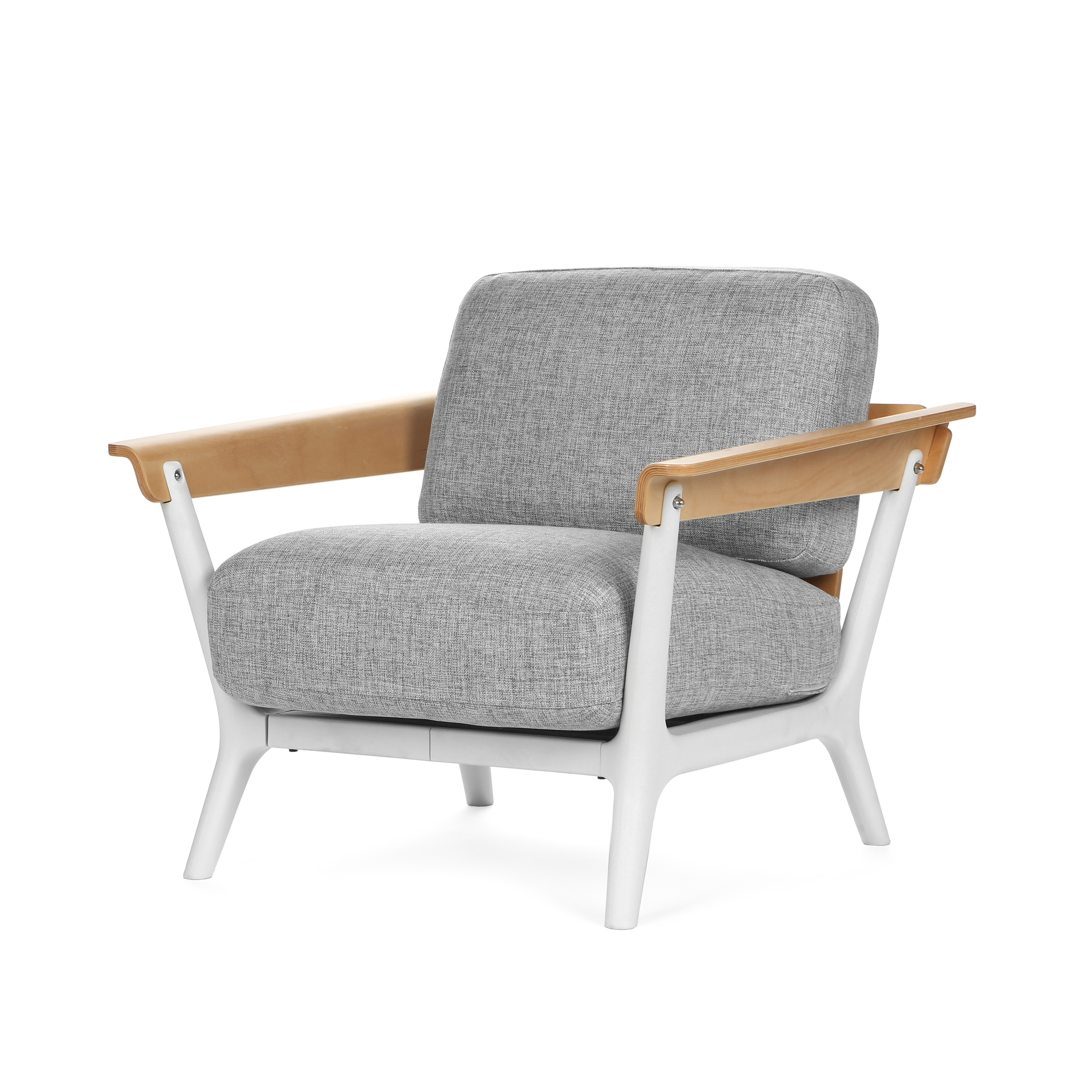 Кресло VeneziaИнтерьерные<br>Дизайнерское Легкое небольшое мягкое кресло Venezia (Венеция) от Cosmo (Космо).<br><br>Емкое и содержательное название изделия совсем под стать его дизайну. О простом, но непременно стильном кресле Venezia можно по праву сказать «модное и со вкусом».<br> <br> Дизайн оригинального кресла Venezia выполнен в стиле датский модерн. Это один из вариантов стиля модерн, возникший в 1930-х годах. Известен также как шведский или датский модерн. Это дизайн-направление в интерьере, в котором все подчиняется гл...<br><br>stock: 0<br>Высота: 82<br>Высота сиденья: 40<br>Ширина: 81,5<br>Глубина: 91<br>Цвет ножек: Белый<br>Материал каркаса: Массив бука<br>Материал обивки: Лен<br>Тип материала каркаса: Дерево<br>Тип материала обивки: Ткань<br>Тип материала ножек: Полипропилен<br>Цвет обивки: Серый<br>Цвет каркаса: Коричневый