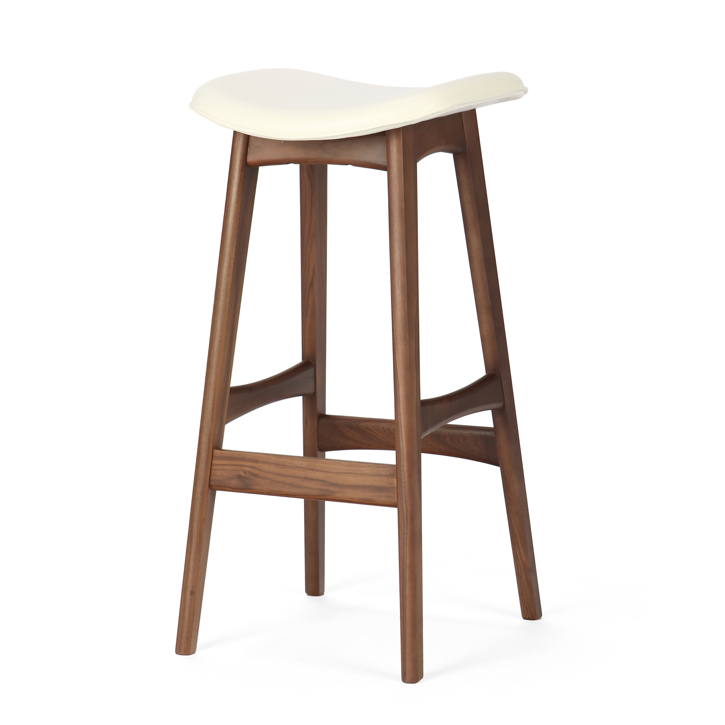 Барный стул Allegra высота 77Барные<br>Дизайнерский барный стул Allegra (Аллегра) на деревянном каркасе без спинки в различных цветах от Cosmo (Космо).Это универсальный стул для дома и частных заведений. Он отлично подойдет как для баров и ресторанов, так и для уютных гостиных и кухонь. Цвет натурального дерева и простота деталей делают его по-настоящему лаконичным, благодаря чему он прекрасно впишется в интерьеры различной стилевой направленности.<br> <br> Стройный силуэт оригинального барного стула Allegra высота 77 составляют прямы...<br><br>stock: 19<br>Высота: 76,5<br>Ширина: 40<br>Глубина: 38,5<br>Цвет ножек: Орех<br>Материал ножек: Массив ореха<br>Цвет сидения: Белый<br>Тип материала сидения: Кожа<br>Коллекция ткани: Harry Leather<br>Тип материала ножек: Дерево