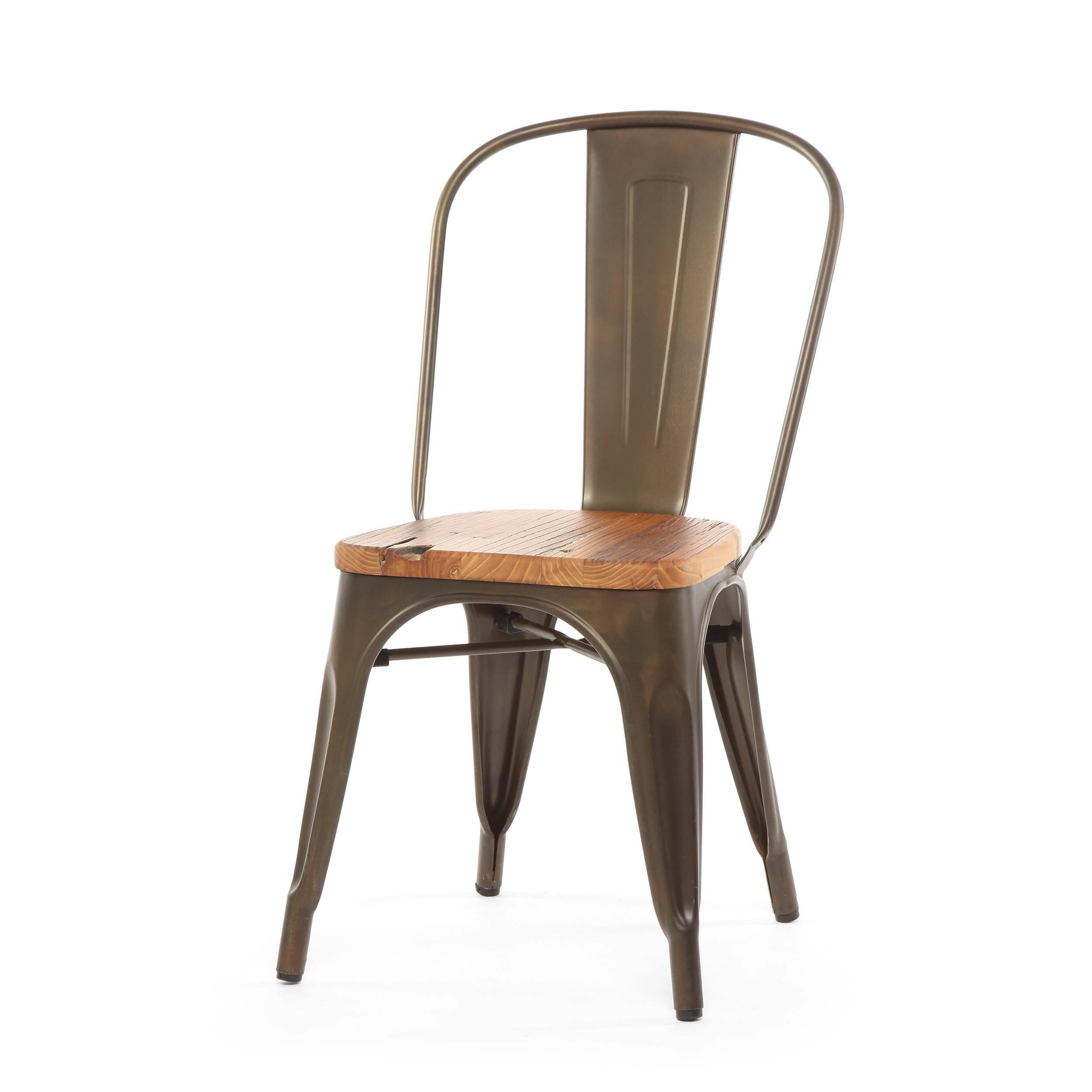 Стул Marais WoodИнтерьерные<br>Дизайнерский креативный жесткий стул Marais Wood (Мэрейс Вуд) на стальном каркасе с сиденьем из дерева от Cosmo (Космо).<br><br>     В современном мире не существует единого правила для создания интерьера, это вопрос личных предпочтений. Кто-то любит наличие картин в золоченых резных рамах, кто-то увлекается яркими восточными коврами и рогожками, а кому-то ближе холодный приглушенный блеск металла и промышленный дизайн в оформлении жилища.<br><br><br> Стул Marais Wood  — это именно индустриальный стиль...<br><br>stock: 0<br>Высота: 85<br>Высота сиденья: 45<br>Ширина: 46<br>Глубина: 51<br>Тип материала каркаса: Сталь<br>Материал сидения: Массив дуба<br>Цвет сидения: Дуб<br>Тип материала сидения: Дерево<br>Цвет каркаса: Ржавчина кофейная