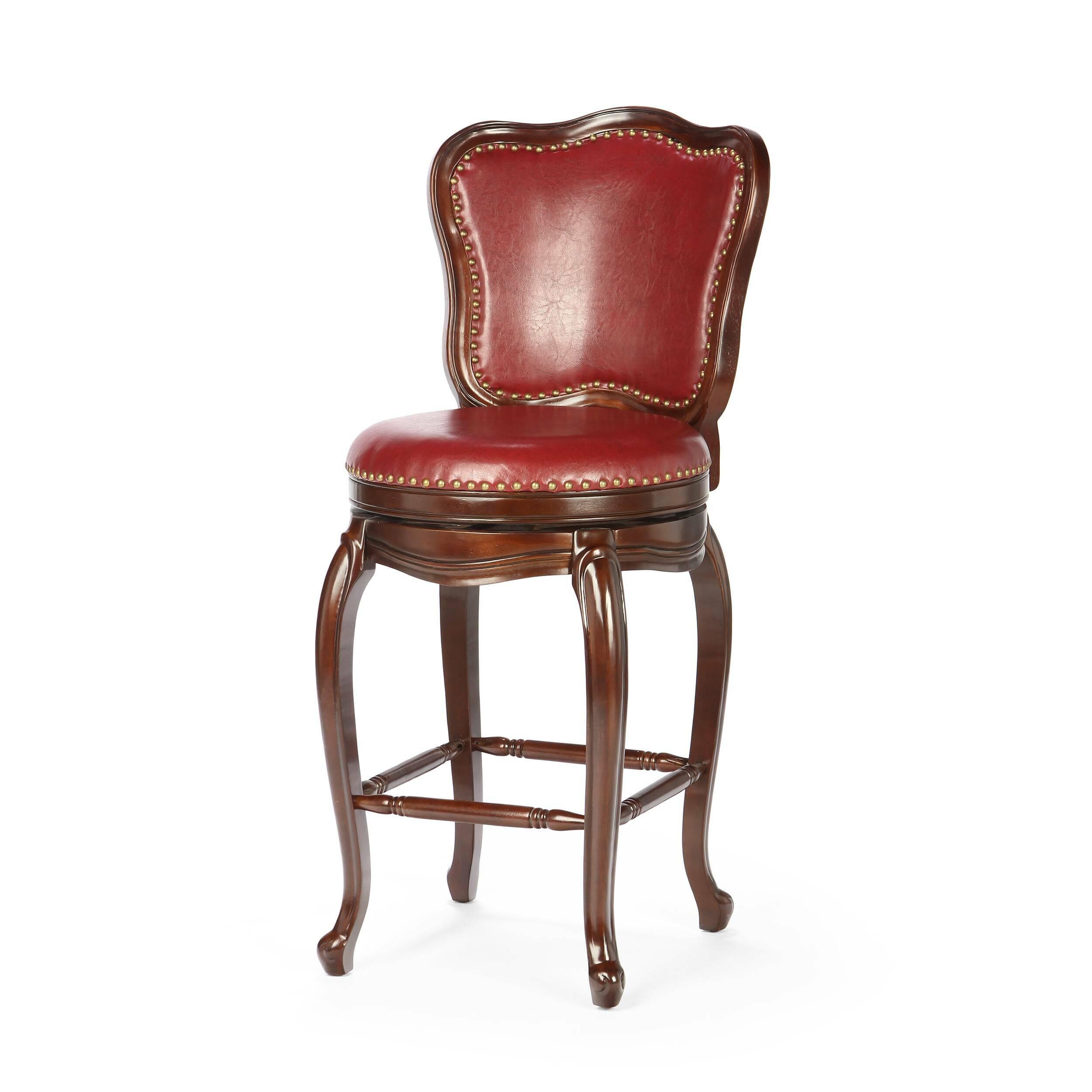 Барный стул CatelliБарные<br>Дизайнерский красный барный стул Catelli (Кателли) из искусственной кожи на деревянных ножках от Cosmo (Космо). <br>Если вы хотите создать свой уникальный интерьер с традиционным винтажным уклоном, то у нас есть для вас нечто особенное — оригинальный барный стул Catelli. Этот стул прекрасно впишется в классический интерьер обеденной зоны вашего дома, бара или ресторана. <br> <br> Утонченный дизайн Catelli не оставит равнодушными ваших гостей. Темная полиуретановая обивка под кожу, однотонные ножки ...<br><br>stock: 23<br>Высота: 119<br>Высота сиденья: 76<br>Ширина: 58<br>Глубина: 61<br>Наполнитель: Пена<br>Материал каркаса: Массив дуба<br>Тип материала каркаса: Дерево<br>Материал сидения: Полиуретан<br>Цвет сидения: Красный<br>Тип материала сидения: Кожа искусственная<br>Цвет каркаса: Темно-коричневый