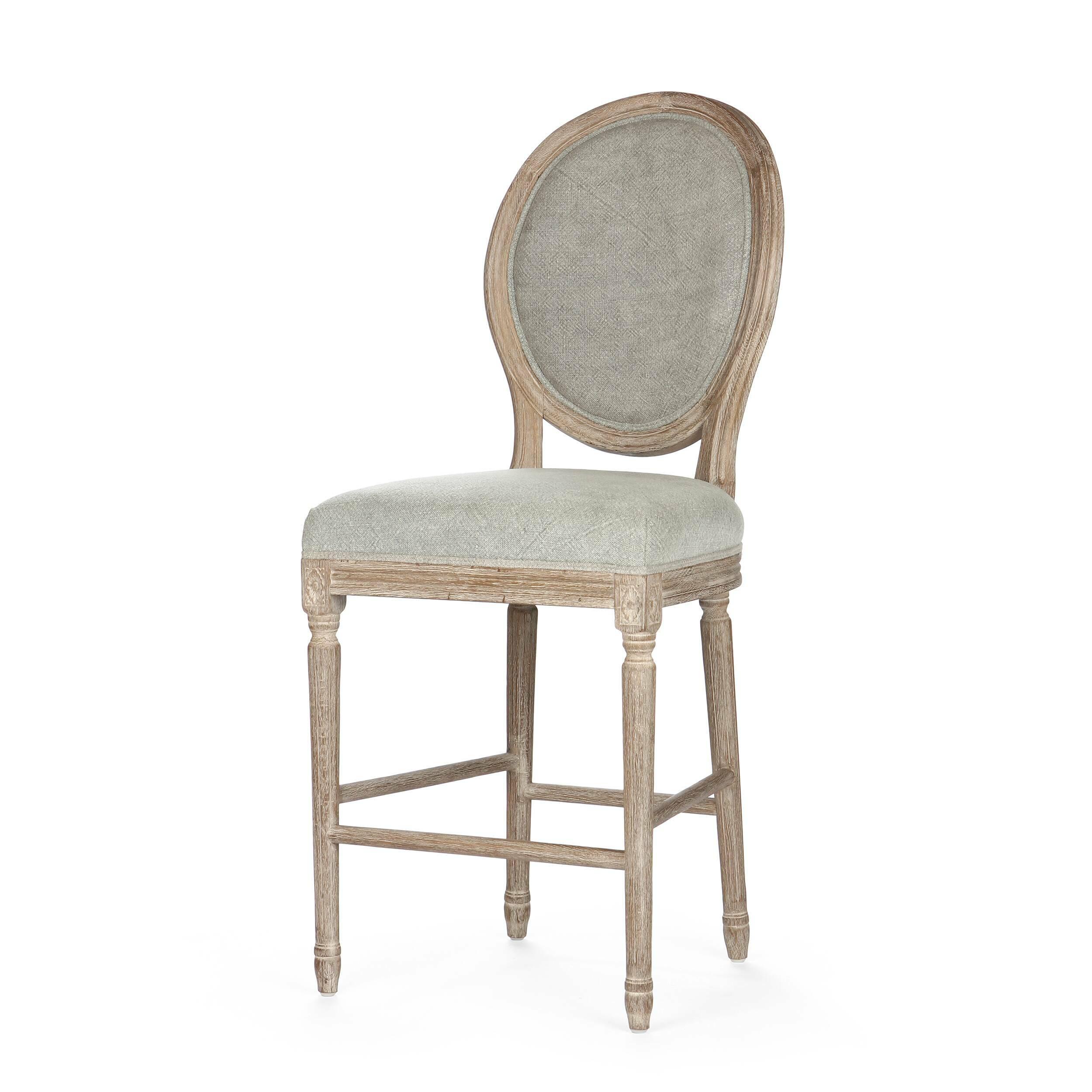 Барный стул LavishБарные<br>Дизайнерский серый тканевый барный стул Lavish (Лавиш) с каркасом из состаренного массива дуба от Cosmo (Космо). <br>Роскошный дизайн барного стула Lavish отражен уже в самом названии. В переводе с английского lavish — «богатый». Однако он при этом не выглядит безвкусным, его силуэт лаконичен, а сочетание отдельных деталей весьма органично. Сдержанный, но безусловно элегантный стул выполнен в викторианском стиле, однако он подойдет для декорирования любого классического помещения, где мебель вы...<br><br>stock: 12<br>Высота: 117<br>Высота сиденья: 62<br>Ширина: 50<br>Глубина: 62<br>Наполнитель: Пена<br>Материал каркаса: Состаренный массив дуба<br>Тип материала каркаса: Дерево<br>Материал сидения: Лен<br>Цвет сидения: Серый<br>Тип материала сидения: Ткань<br>Цвет каркаса: Дуб