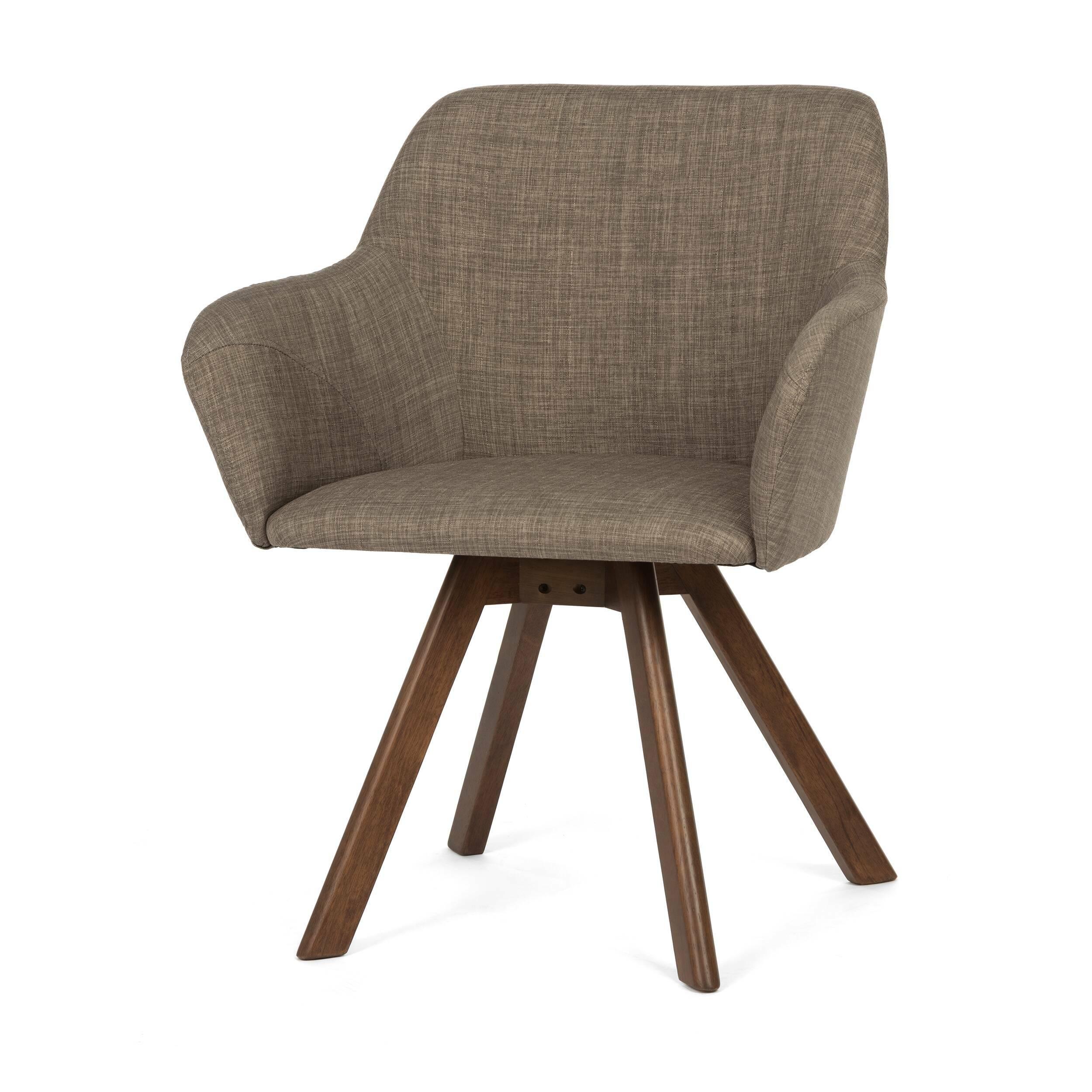 Стул BessИнтерьерные<br>Дизайнерский мягкий стул Bess (Бесс) с подлокотниками на длинных деревянных ножках от Cosmo (Космо).<br>Такой гость в домашнем интерьере — настоящая находка, ведь дизайн данной модели необычен и по-настоящему актуален. Стильное сочетание форм и материалов станут модным дополнением как к классическому, так и к современному интерьеру. Стоит ли перед вами задача подобрать мебель для интерьера в стиле конструктивизм, минимализм, а также многих других направлений, стул Bess непременно окажется полез...<br><br>stock: 0<br>Высота: 81<br>Высота спинки: 49.5<br>Ширина: 62<br>Глубина: 66<br>Цвет ножек: Коричневый<br>Наполнитель: Пена<br>Материал ножек: Массив каучукового дерева<br>Материал сидения: Полиэстер<br>Цвет сидения: Серый<br>Тип материала сидения: Ткань<br>Тип материала ножек: Дерево