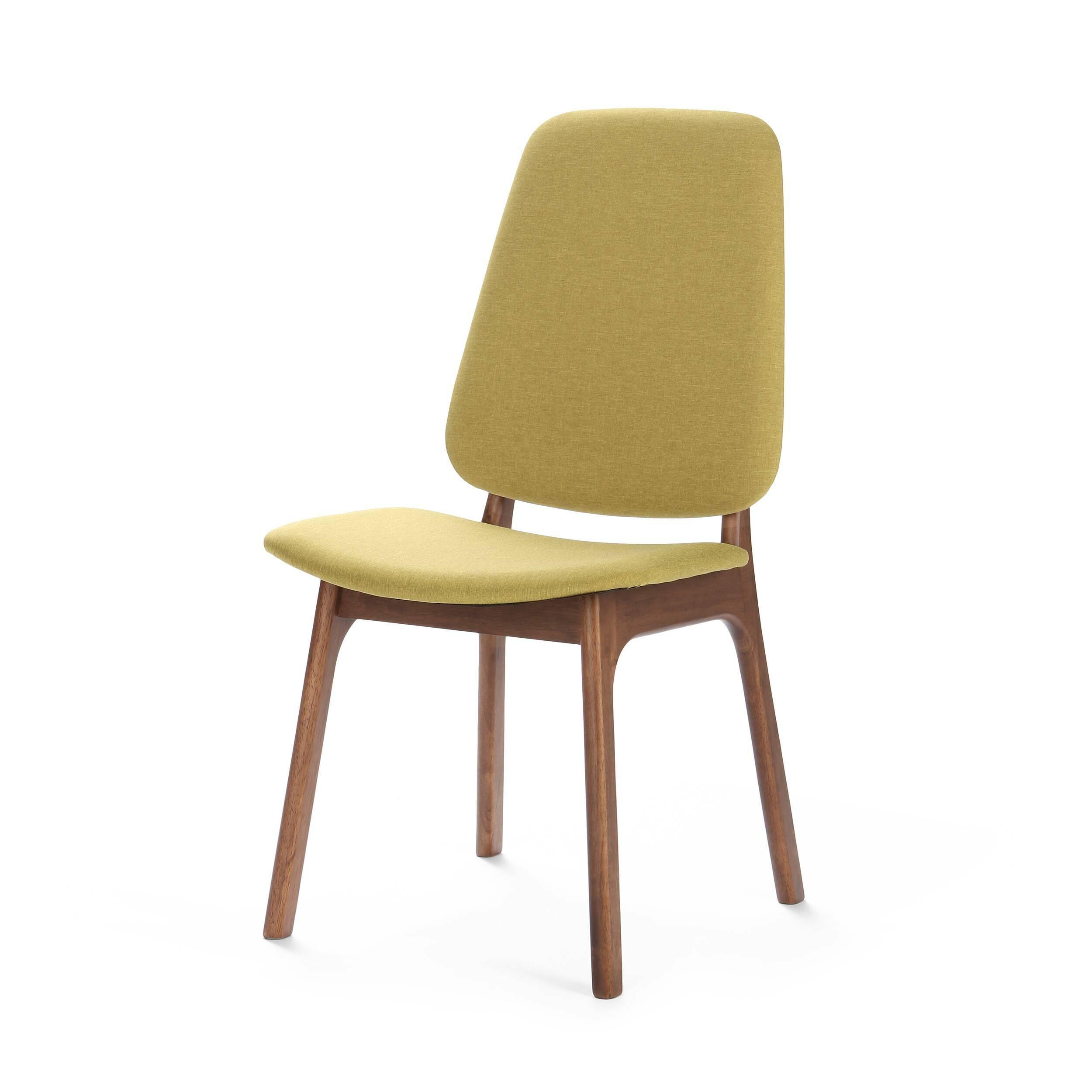 Стул RadleyИнтерьерные<br>Созданный на основе современного стиля, а также с упором на скандинавский модерн стул Radley — отличный вариант обеденной мебели как для маленькой квартирки, так и для роскошной современной виллы. Светлая желтовато-зеленая обивка сиденья в сочетании с ножками из темной натуральной древесины смотрится свежо и современно. <br> <br> Стул Radley также отлично подойдет к интерьеру кабинета в качестве рабочего стула. Благодаря мягкой обивке из полиэстера на стуле сидеть очень комфортно, и можно соверше...<br><br>stock: 0<br>Высота: 94<br>Высота спинки: 47<br>Ширина: 56<br>Глубина: 49.5<br>Цвет ножек: Коричневый<br>Наполнитель: Пена<br>Материал ножек: Массив каучукового дерева<br>Материал сидения: Полиэстер<br>Цвет сидения: Зеленый<br>Тип материала сидения: Ткань<br>Тип материала ножек: Дерево