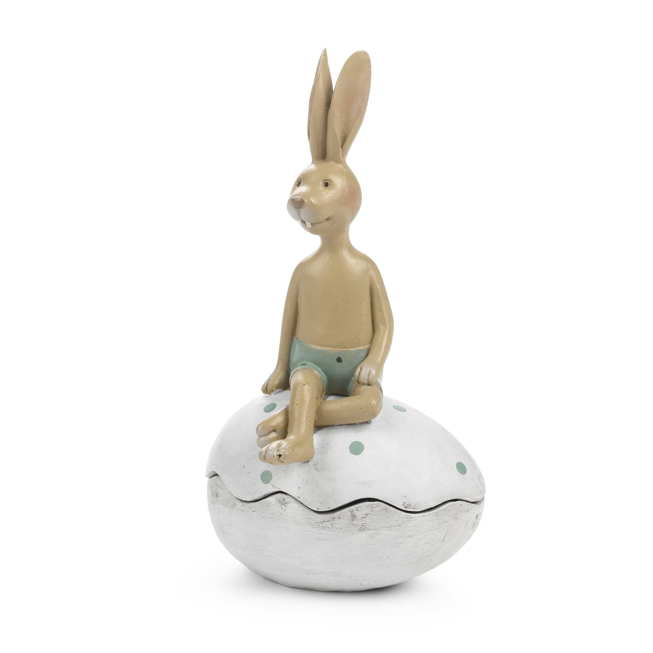 Статуэткa HareНастольные<br>Дизайнерская декоративная статуэтка Hare (Хар) в форме сидящего на ракушке зайца от Cosmo (Космо).<br>         Один из главных приемов создания уютного и привлекательного интерьера — это украшение его разнообразными декоративными элементами, такими как картины, мозаика, декоративная посуда и прочее. Декор должен хорошо сочетаться друг с другом, только в этом случае он поможет вам создать уютную и теплую домашнюю атмосферу.<br><br><br> Статуэтка Hare представляет собой двух прелестных зайчиков, уютно ...<br><br>stock: 2<br>Высота: 19<br>Ширина: 9,3<br>Материал: Смола<br>Цвет: Белый<br>Длина: 10,7<br>Цвет дополнительный: Розовый, зеленый